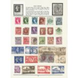 GB stamp collection on 2 loose album pages. Good condition. We combine postage on multiple winning