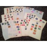South America stamp collection 12 loose album pages countries include Brazil, Bolivia, Chile,