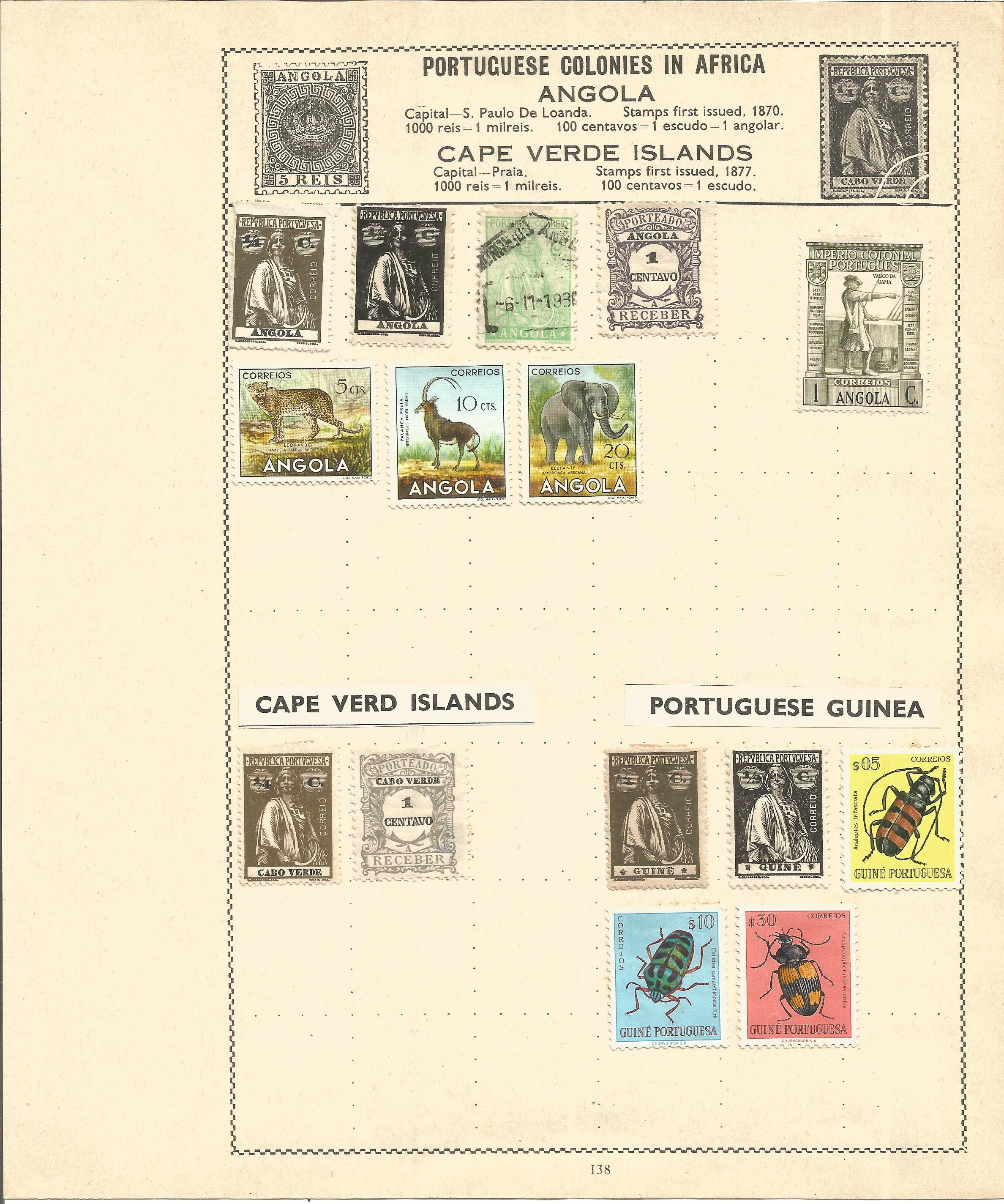 European stamp collection 6 loose album pages countries include Portugal and the Portuguese - Image 3 of 3