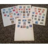 Greece stamp collection 5 loose pages interesting collection. Good condition. We combine postage