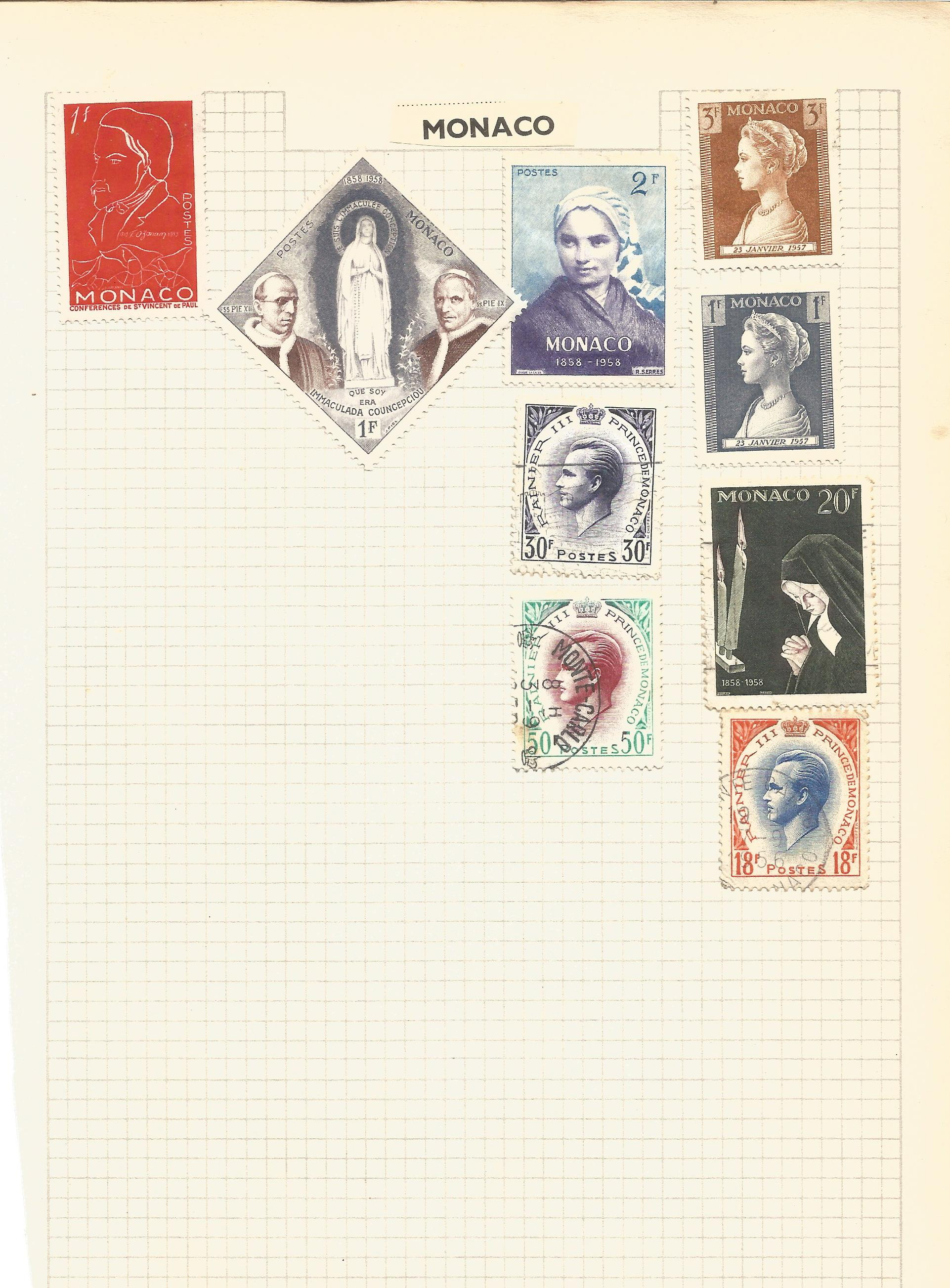 European stamp collection on 4 pages. Includes Monaco, Luxembourg and San Marino. Good condition. We - Image 2 of 4