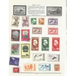 Chinese stamp collection on 2 pages. Good condition. We combine postage on multiple winning lots and