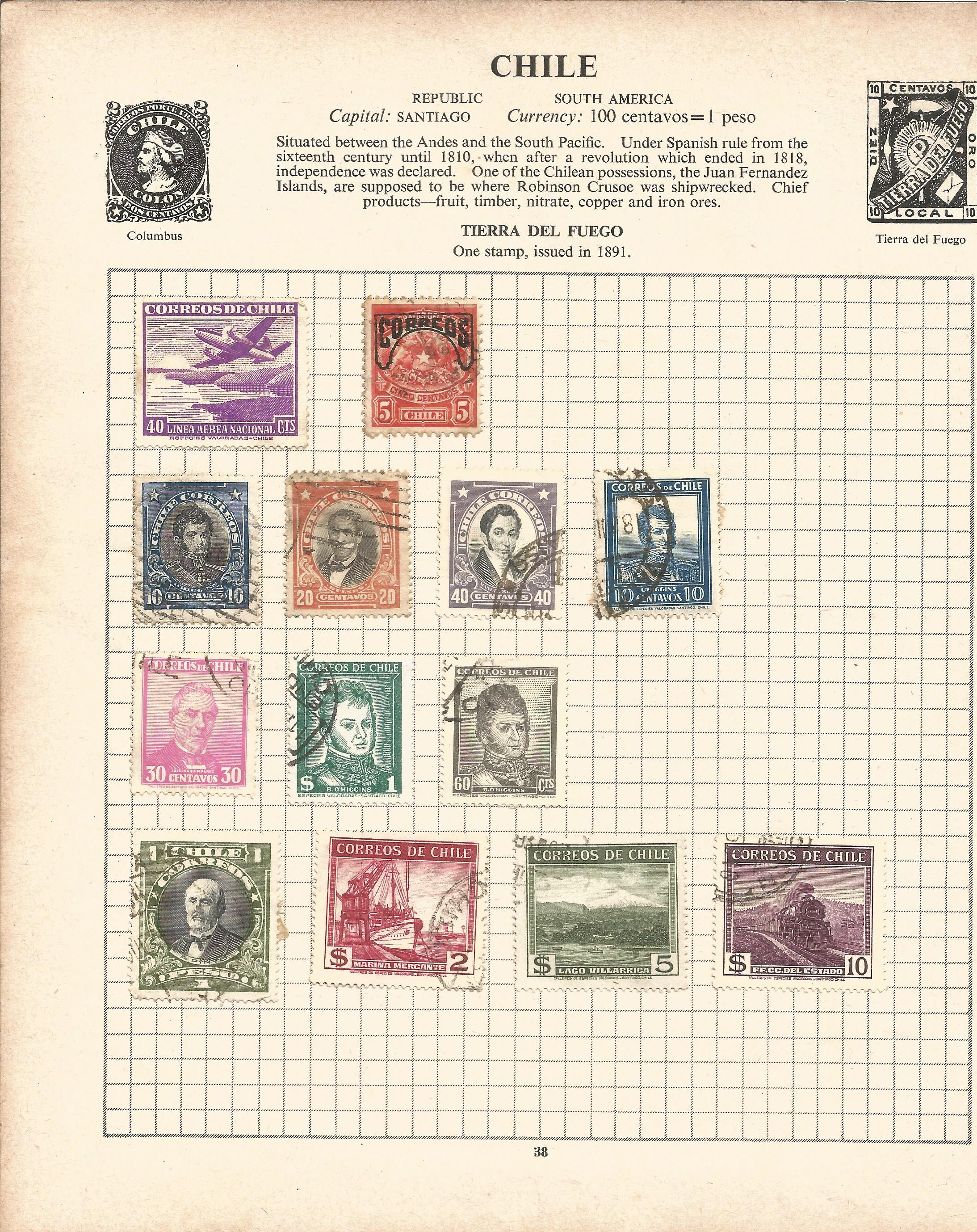 Assorted stamp collection. Includes Argentina, Chile, USA, Hungary, Poland, Romania and Russia on 20 - Image 2 of 5