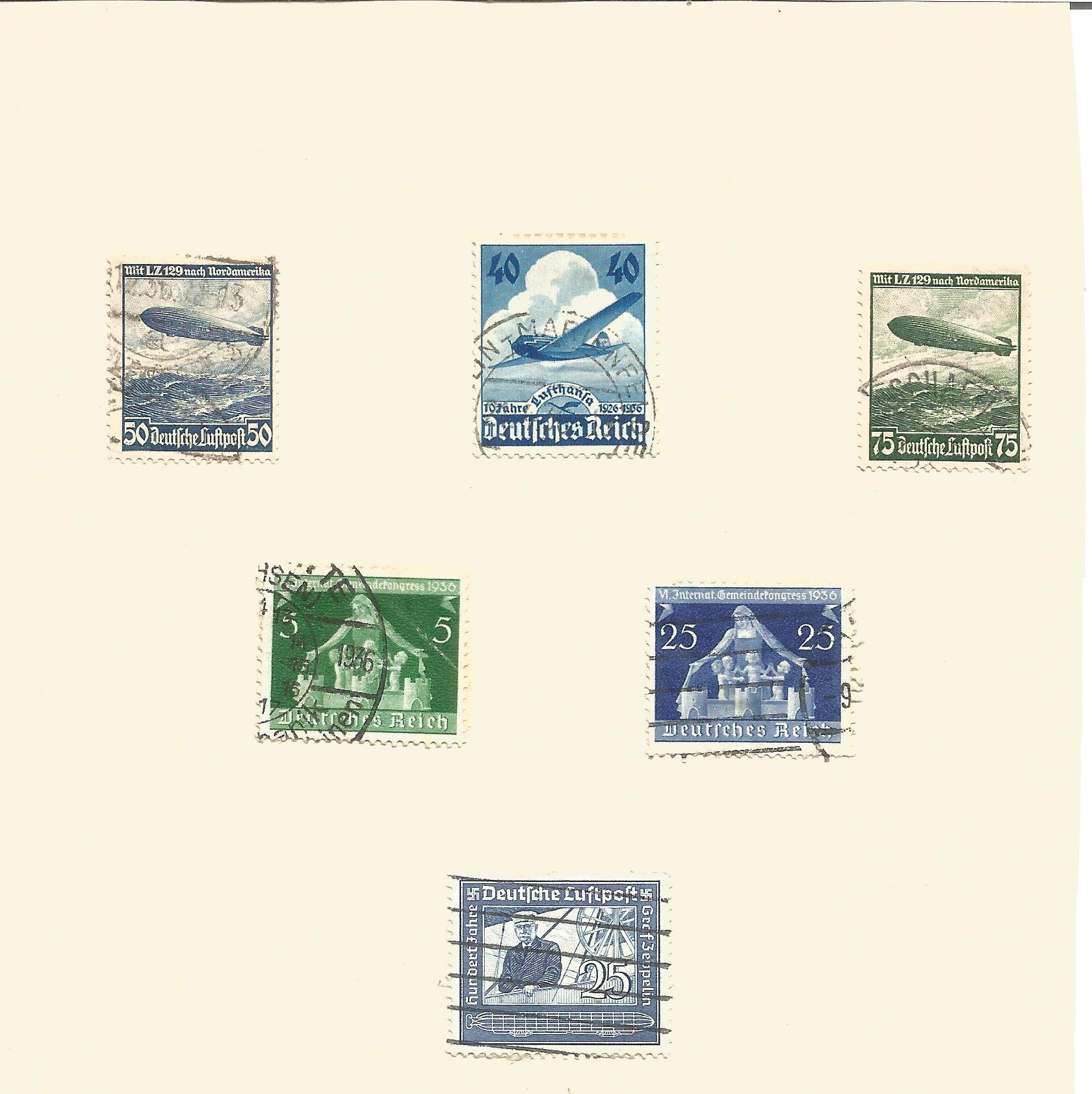 German stamp collection on 2 pages. 3rd Reich. Good condition. We combine postage on multiple - Image 2 of 2