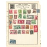 BCW used stamp collection on 7 loose pages. Includes New Zealand, Australian States and South
