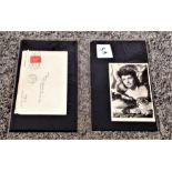 Margaret Lockwood PRINTED signed photo and envelope dated 1945. Good condition. We combine postage