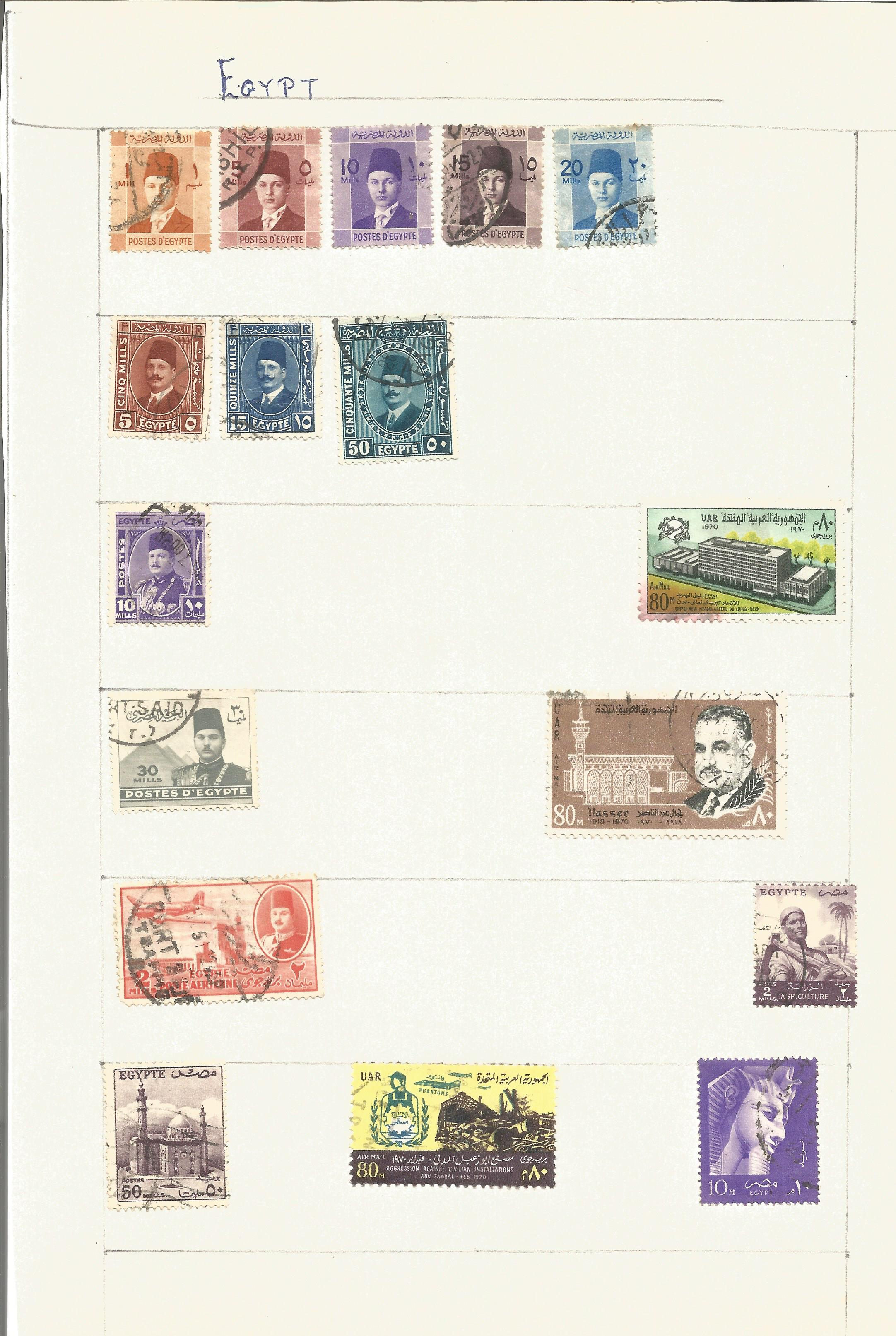 World stamp collection on 14 pages. Good condition. We combine postage on multiple winning lots