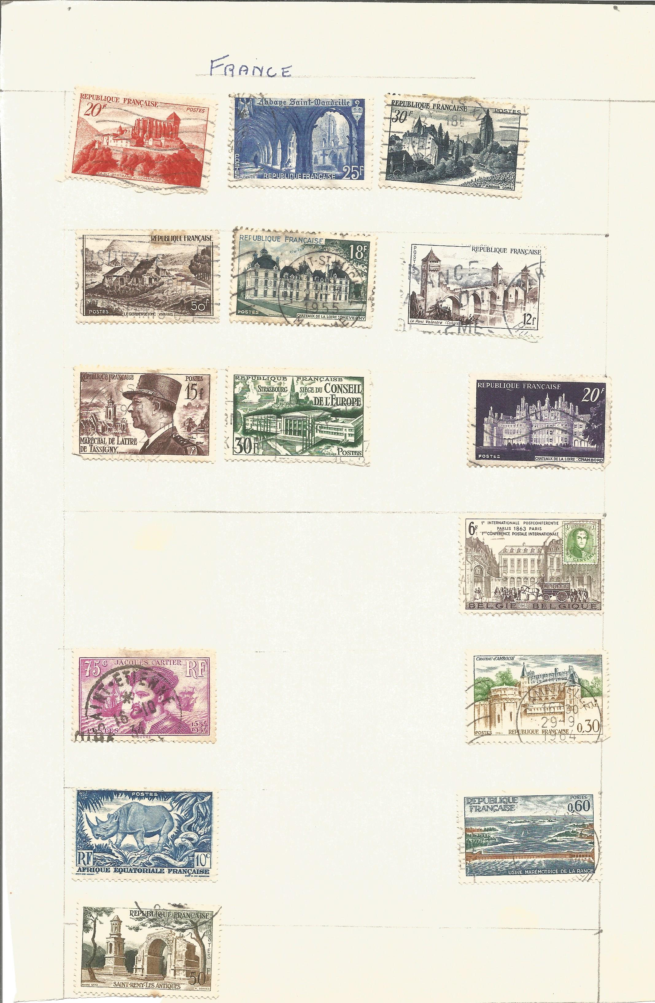 France and Colonies stamp collection on 8 loose pages. Good condition. We combine postage on - Image 4 of 4
