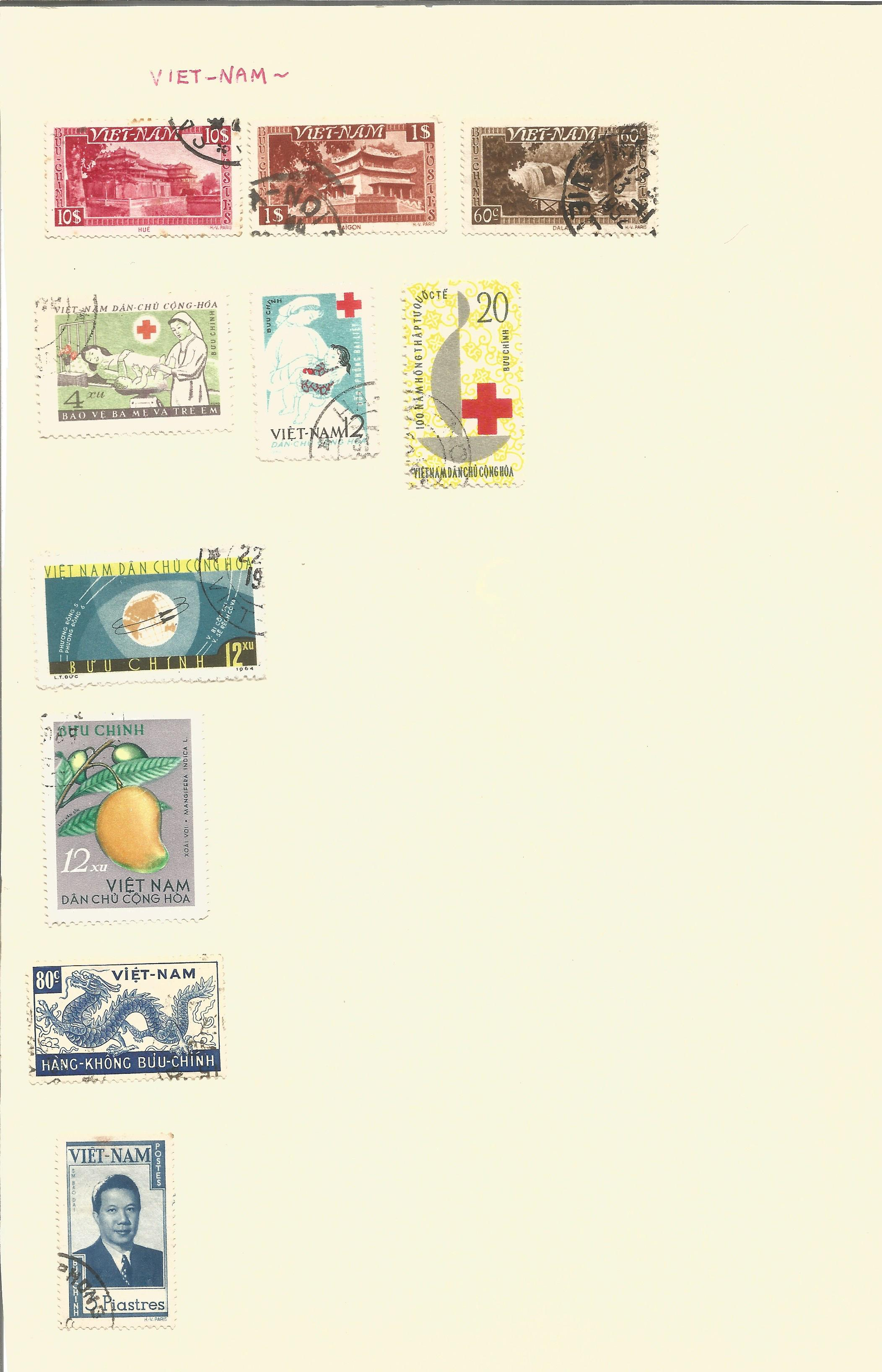 World stamp collection on 14 pages. Good condition. We combine postage on multiple winning lots - Image 3 of 4