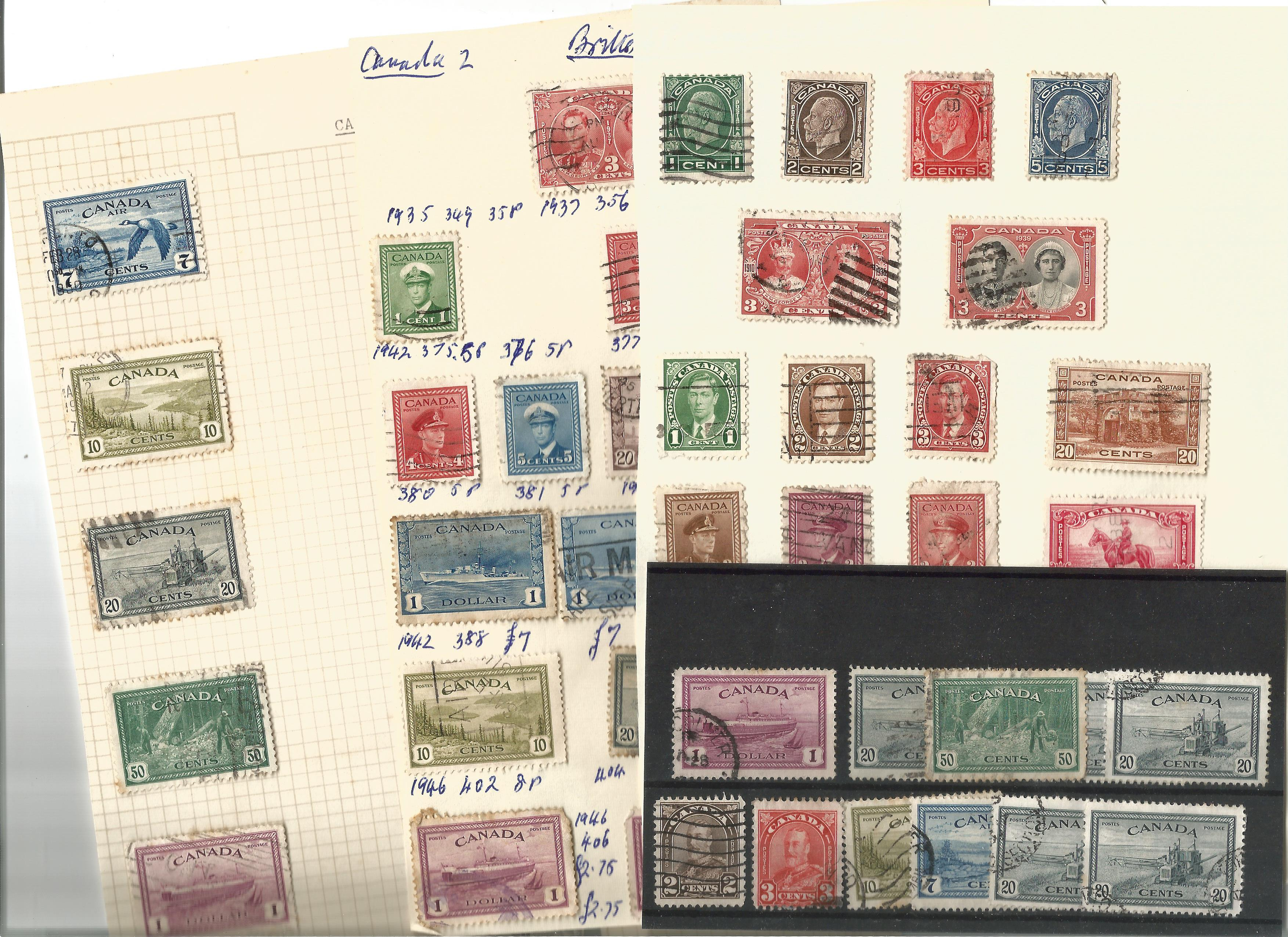 Canadian stamp collection on 9 loose pages. Good condition. We combine postage on multiple winning