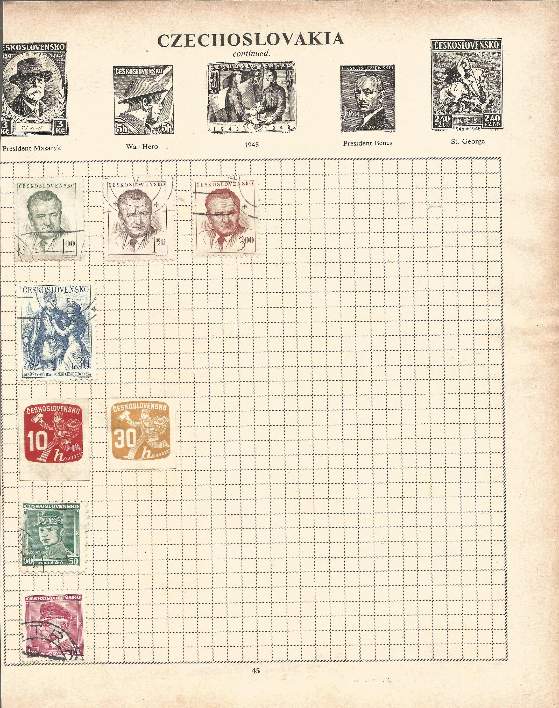 Assorted stamp collection. Includes Argentina, Chile, USA, Hungary, Poland, Romania and Russia on 20 - Image 5 of 5