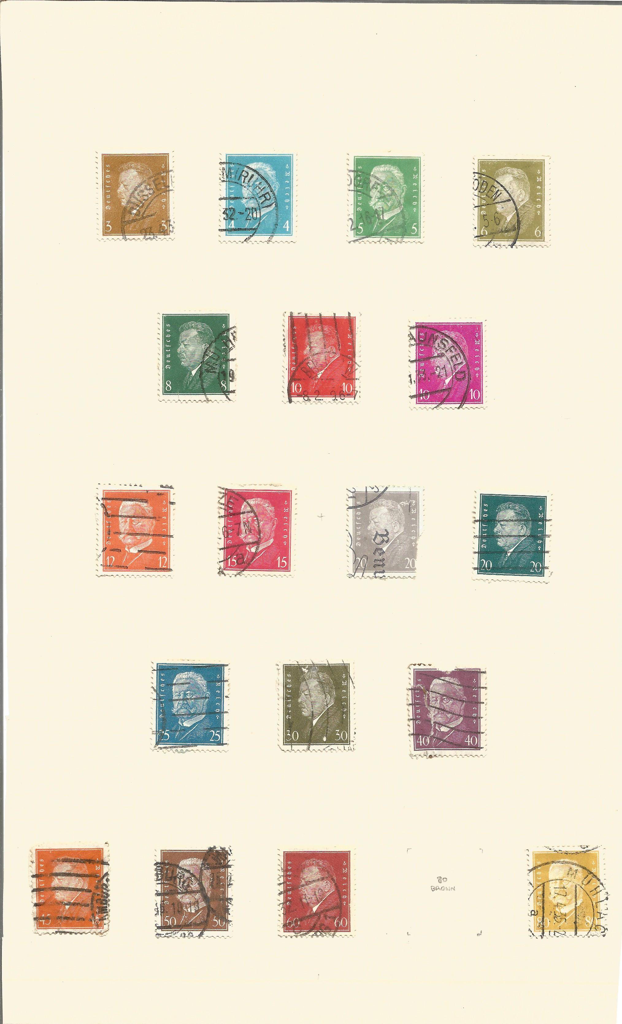 1920/1936 German stamps on 10 album pages. Good condition. We combine postage on multiple winning - Image 2 of 3