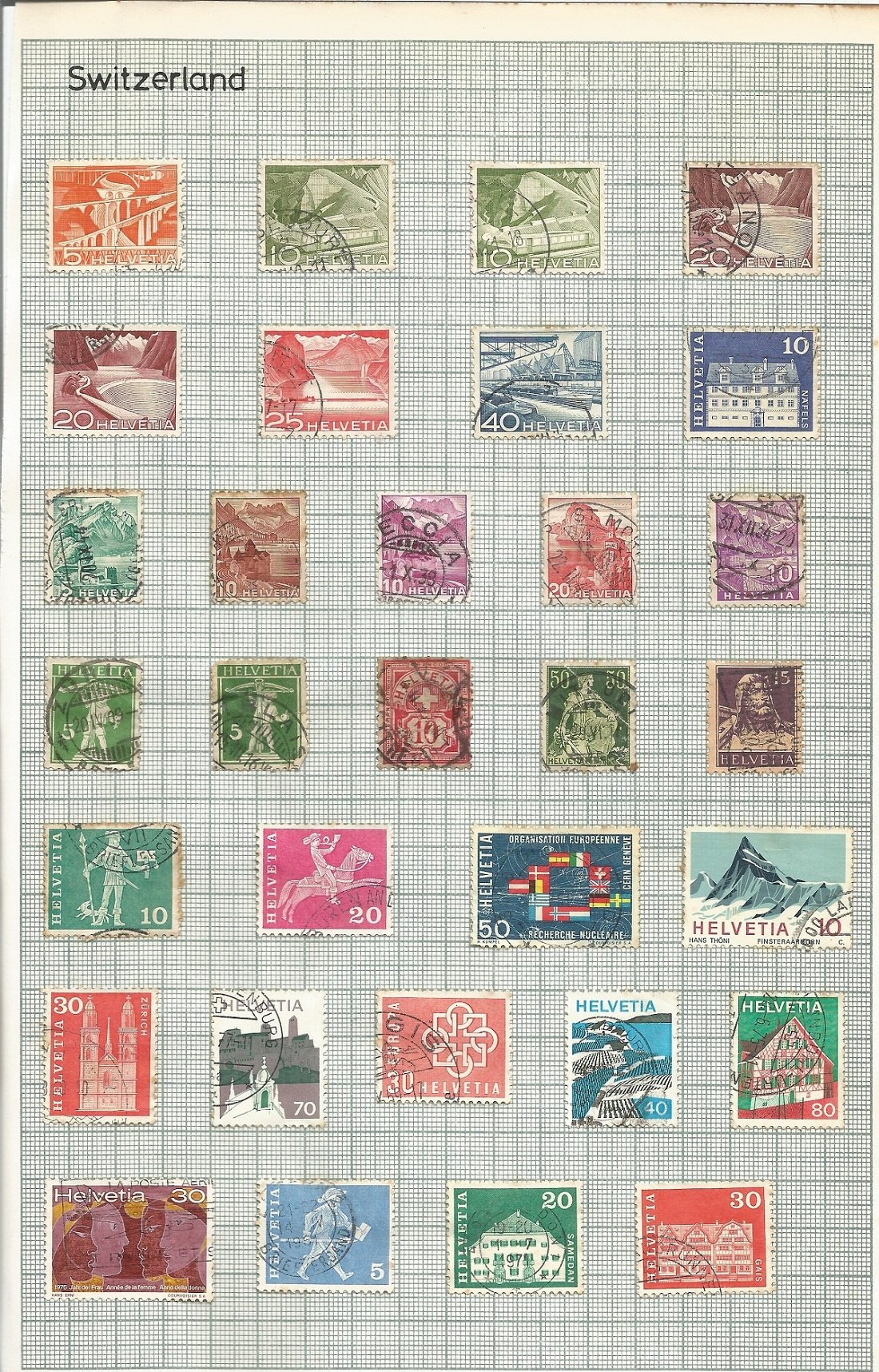Italy, Switzerland, Greece and Crete stamps on 6 loose pages. Good condition. We combine postage - Image 3 of 3