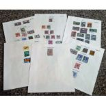Ceylon stamp collection 6 loose album pages some rare stamps included. Good condition. We combine