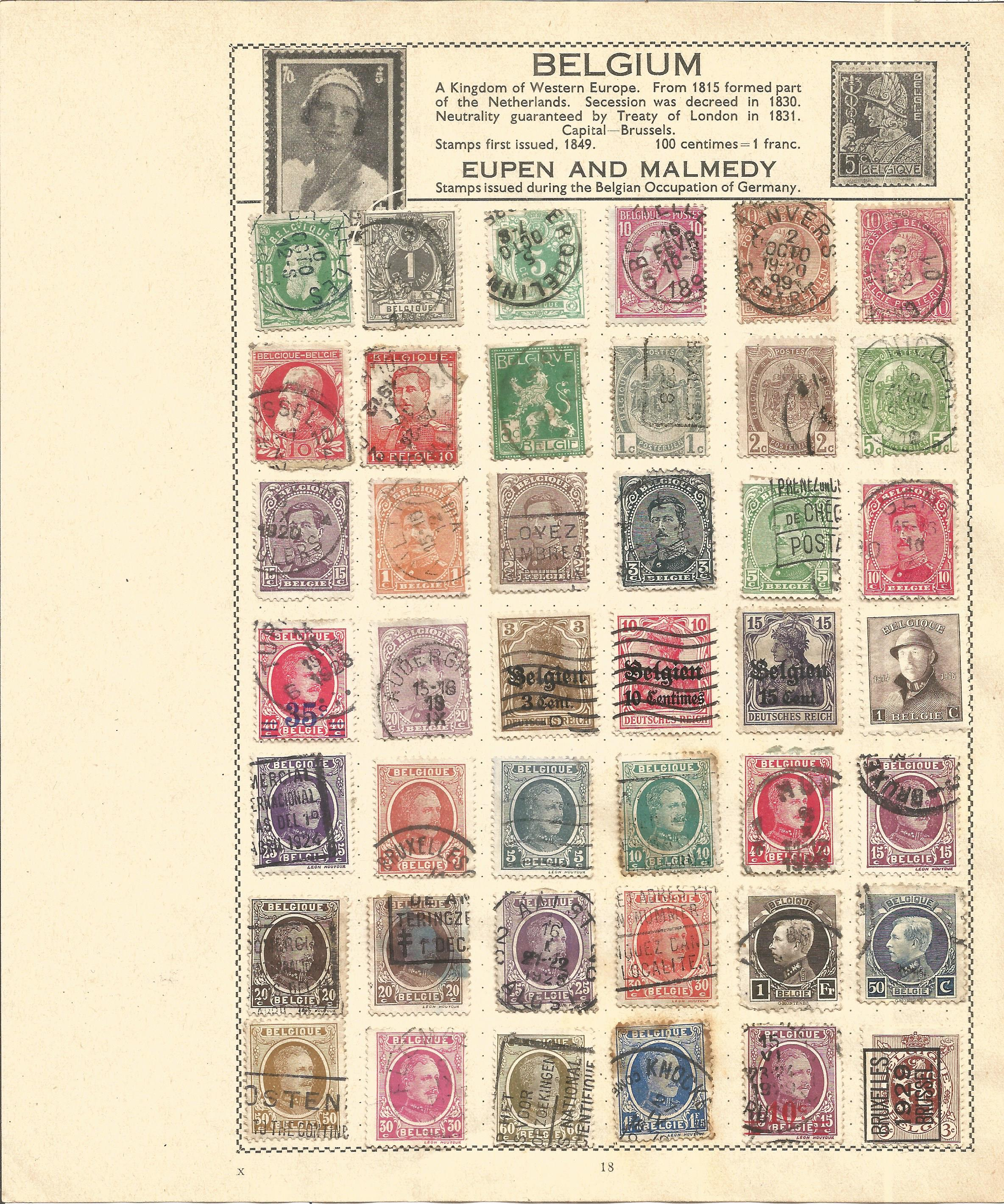 European Stamp collection 7 loose album sleeves countries include Greece and Belgium. Good - Image 2 of 3
