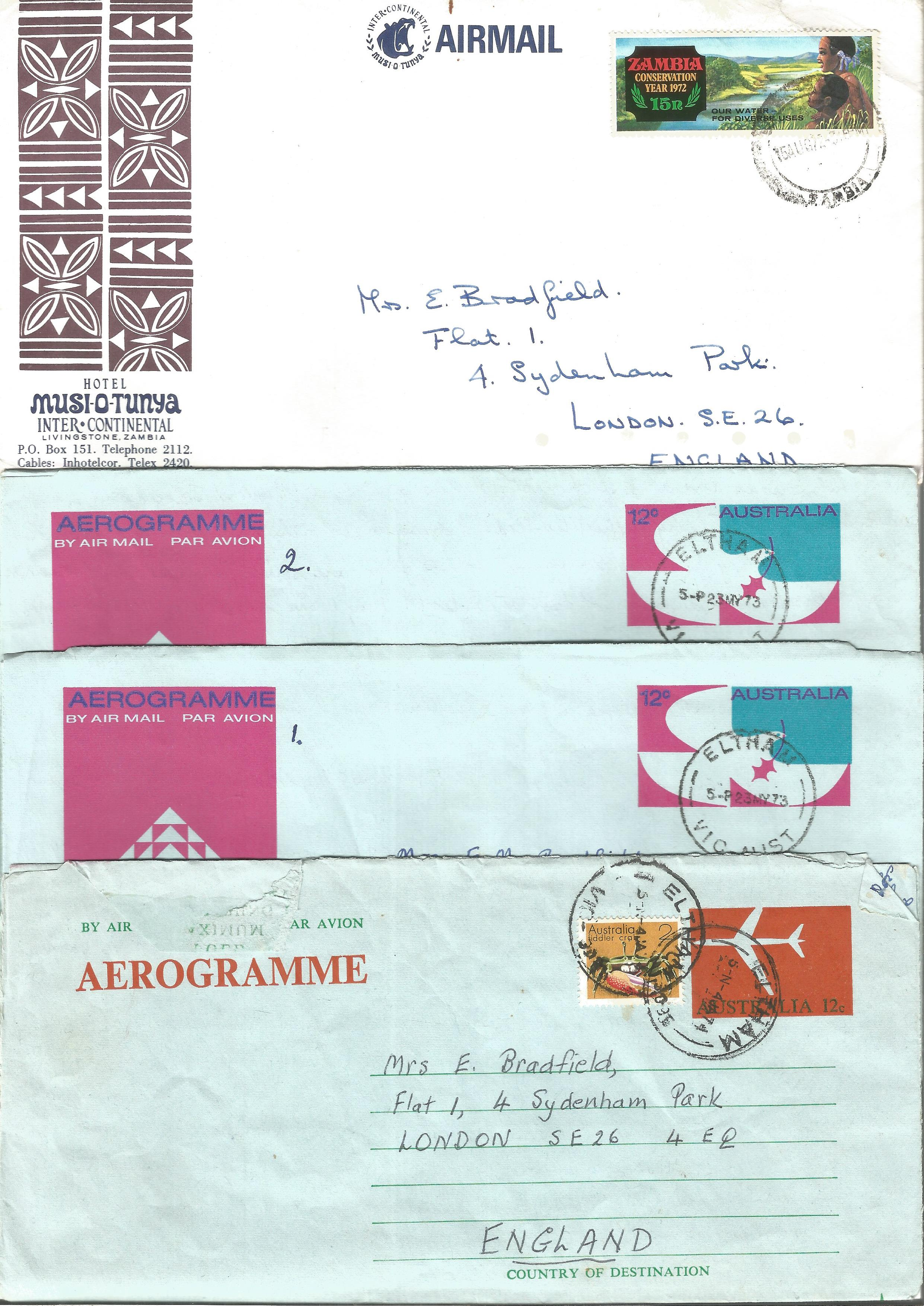 Overseas cover collection. 23 included. Australia, RSA, Canada and Zambia. Good condition. We - Image 5 of 5