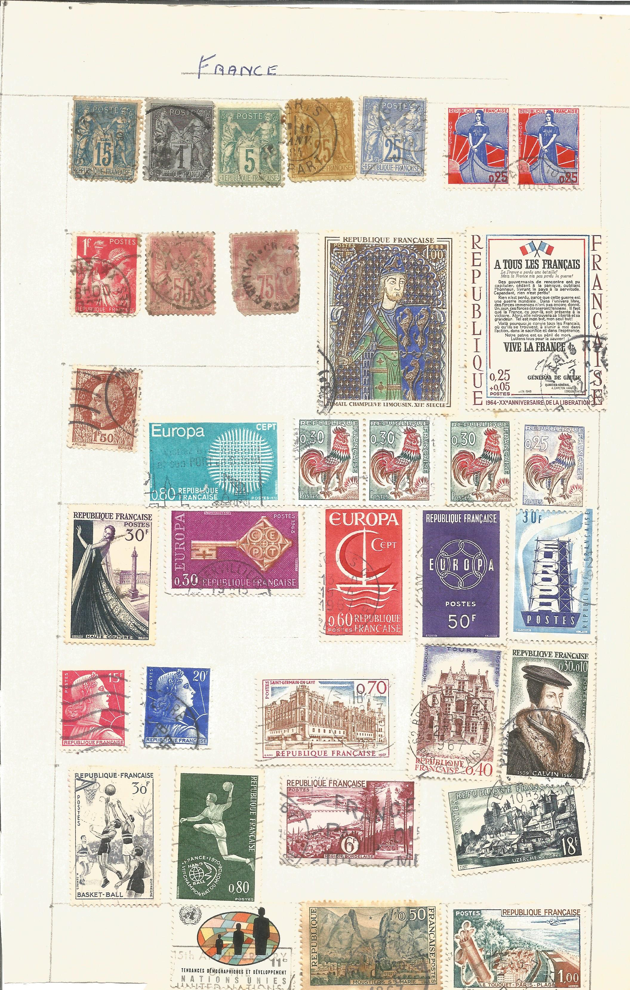 France and Colonies stamp collection on 8 loose pages. Good condition. We combine postage on - Image 2 of 4