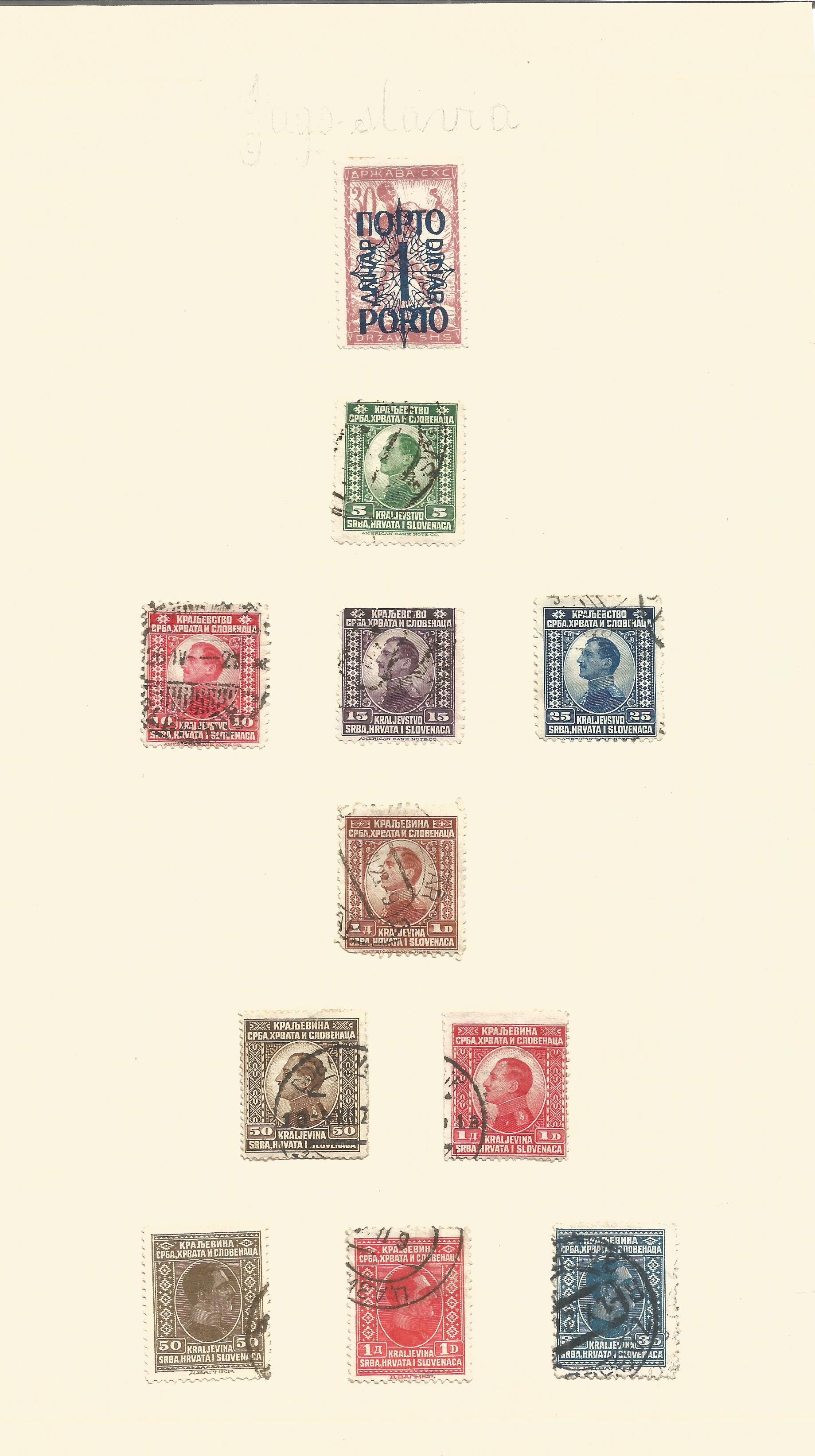 Yugoslavia, Latvia and Lebanon stamp collection on 8 loose pages. Good condition. We combine postage