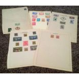 South America stamp collection 5 loose album pages mint stamps countries include Columbia, Costa
