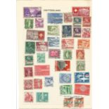 9 pages of European stamps. Includes Switzerland, Italy, Spain and Colonies and Portugal and