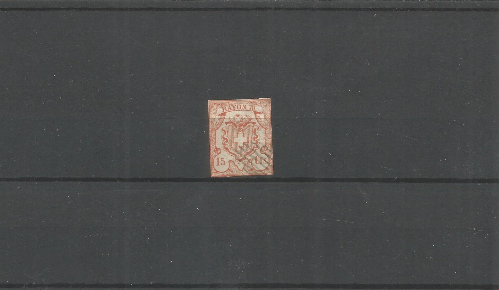 1 Swiss stamp. Cat value £1100. Good condition. We combine postage on multiple winning lots and