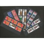 GB unmounted mint stamp collection on 5 stock cards. QEII comms early 1960's and 1953 includes