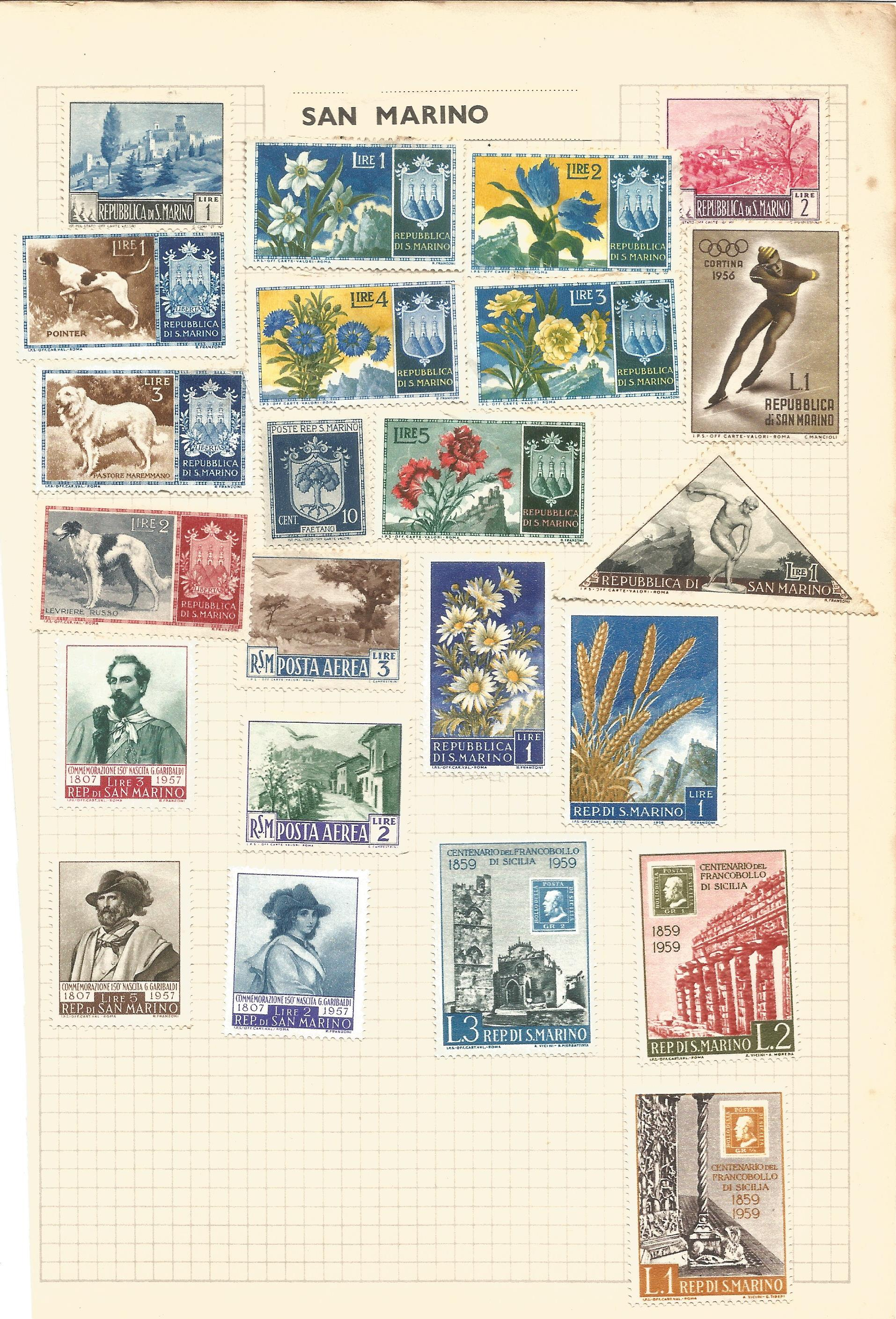 European stamp collection on 4 pages. Includes Monaco, Luxembourg and San Marino. Good condition. We - Image 4 of 4