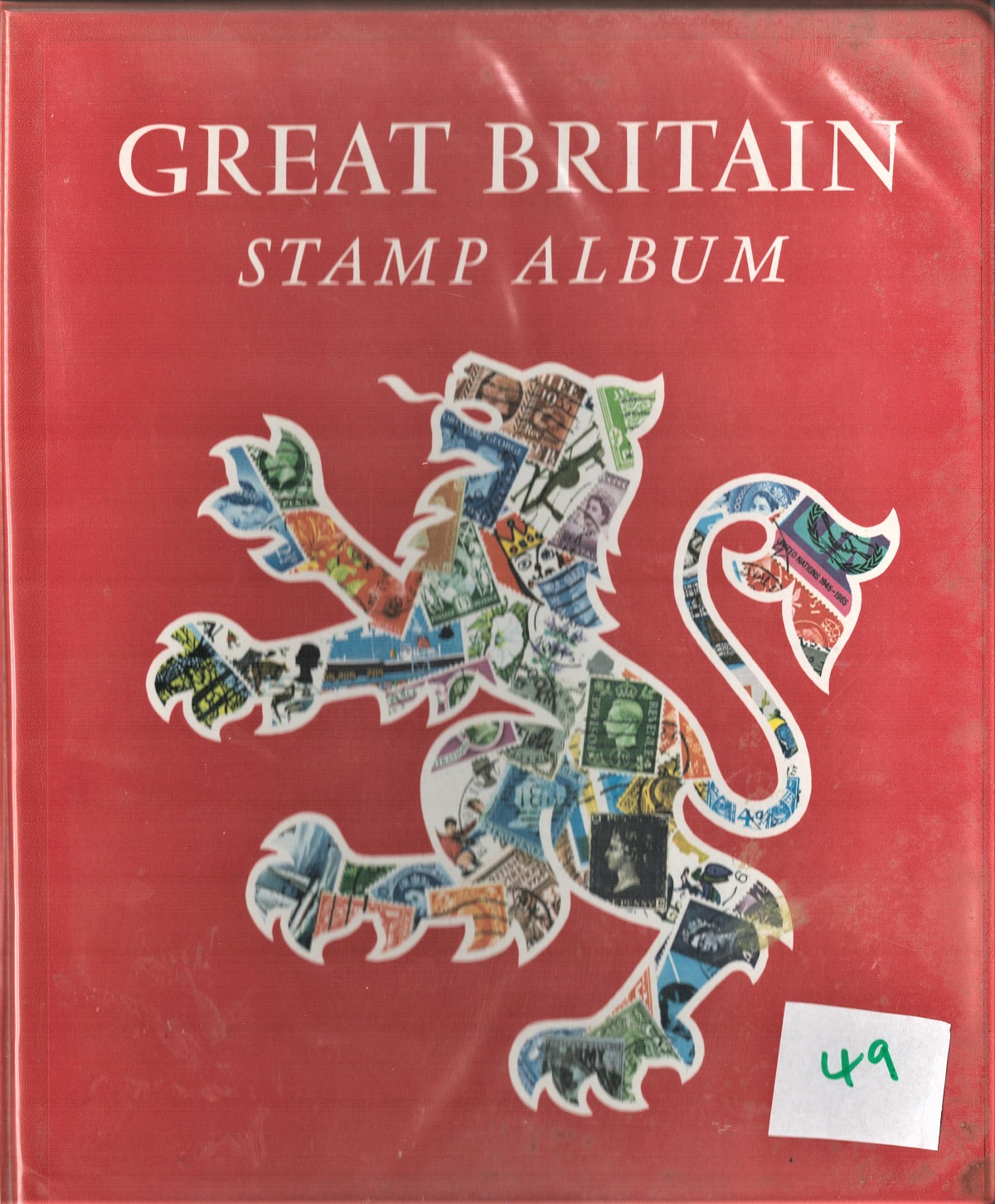 GB stamp album containing mint stamps. Some unmounted. QEII 1955/1968. Includes phosphor issue 3d/