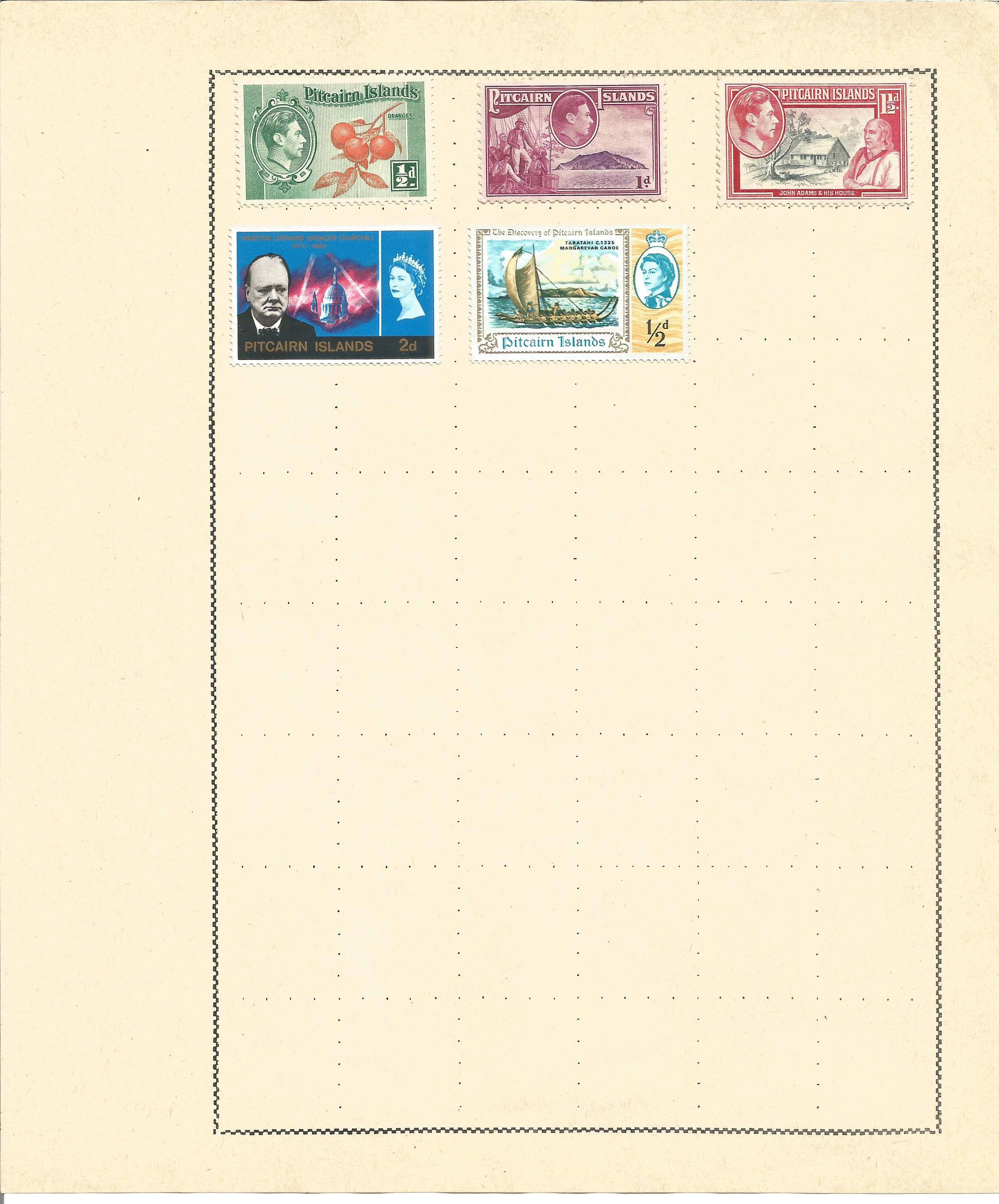 British Commonwealth stamp collection 7 loose album leaves countries include North Borneo, - Image 2 of 3
