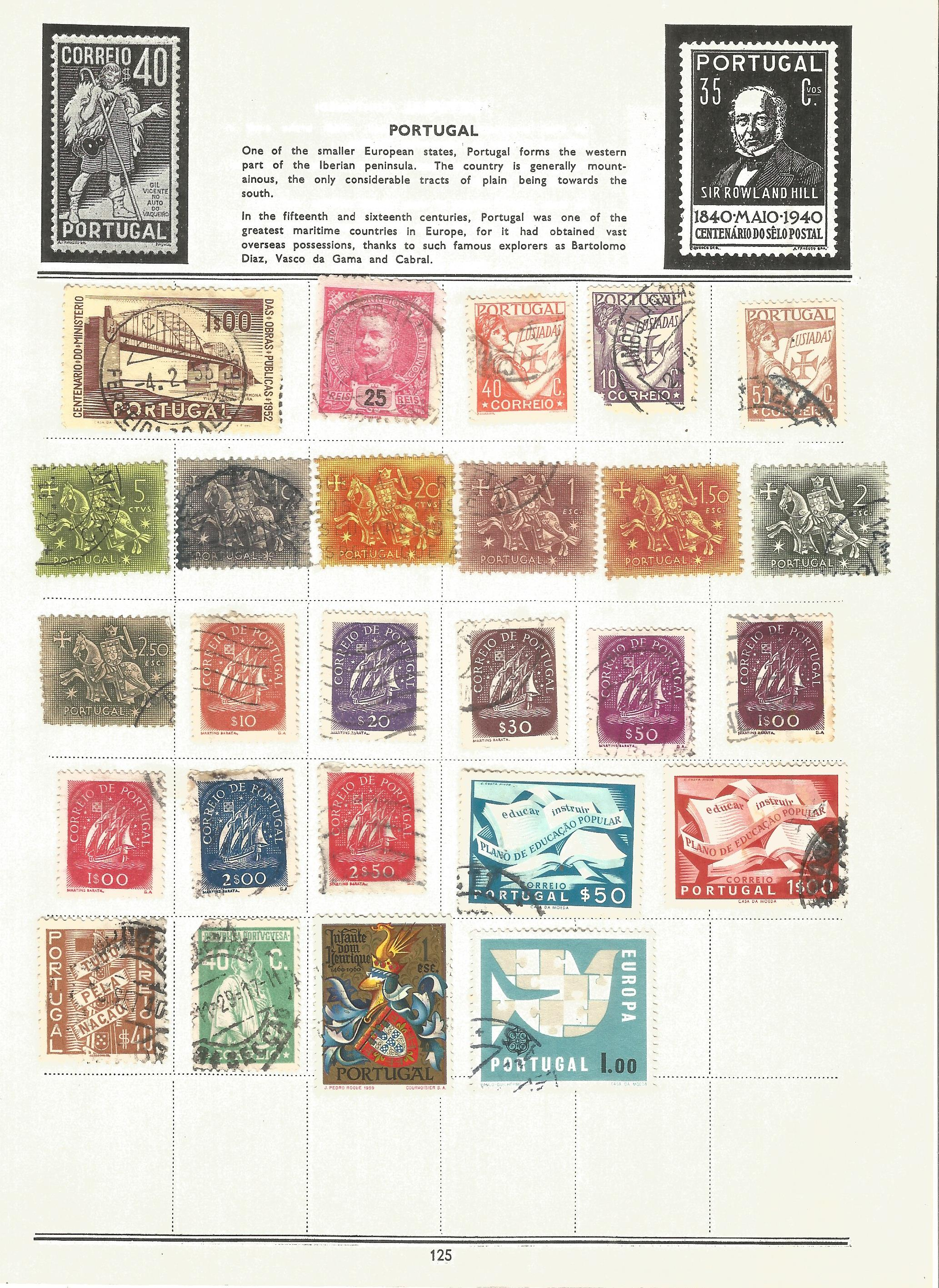 Foreign stamp collection on 16 loose album pages. Includes Italy, Netherlands, Norway, Portugal - Image 4 of 4