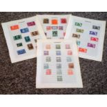 Hungary stamp collection 4 loose album pages mainly mint/early material some rare. Good condition.