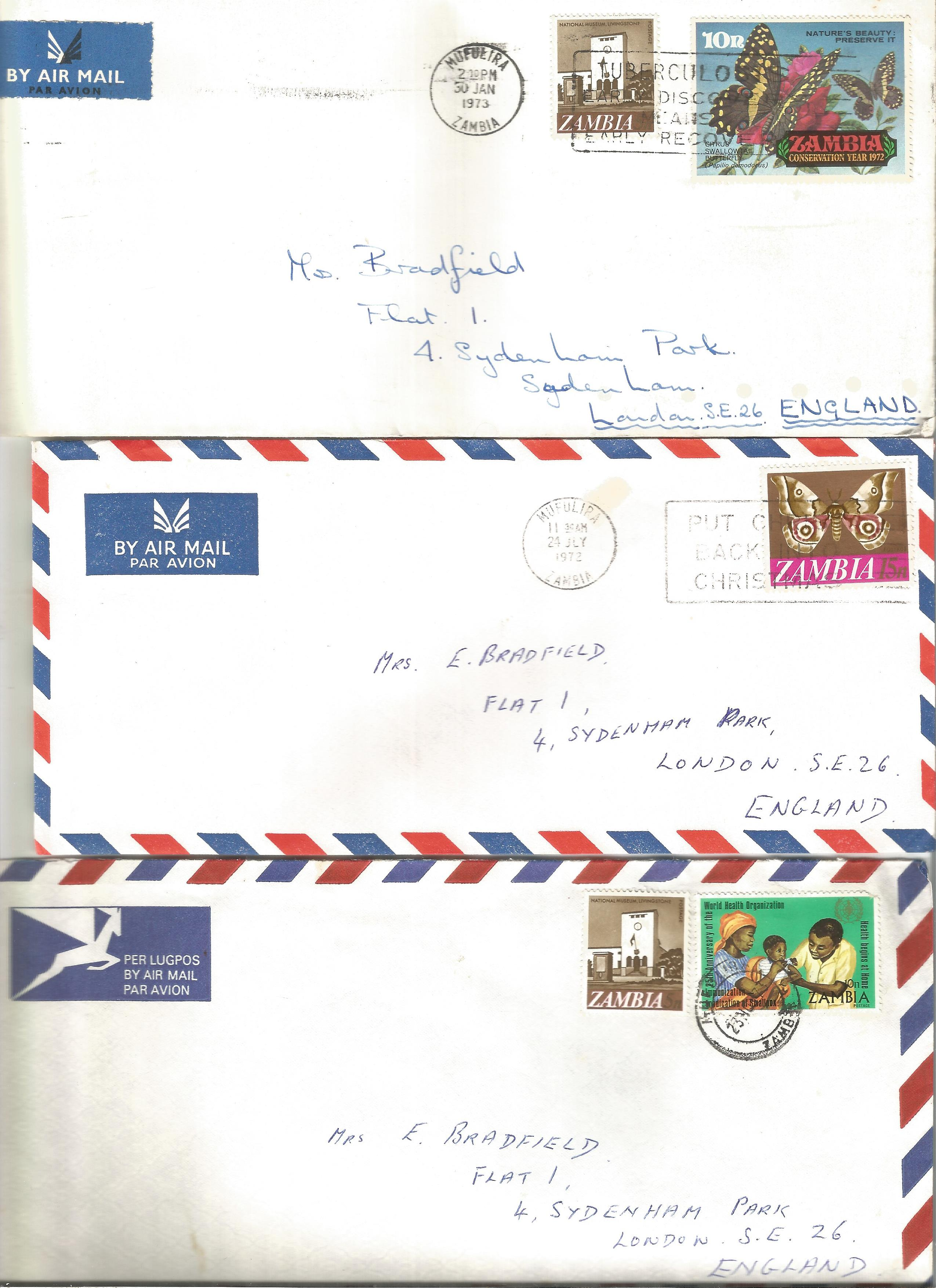Overseas cover collection. 23 included. Australia, RSA, Canada and Zambia. Good condition. We - Image 2 of 5