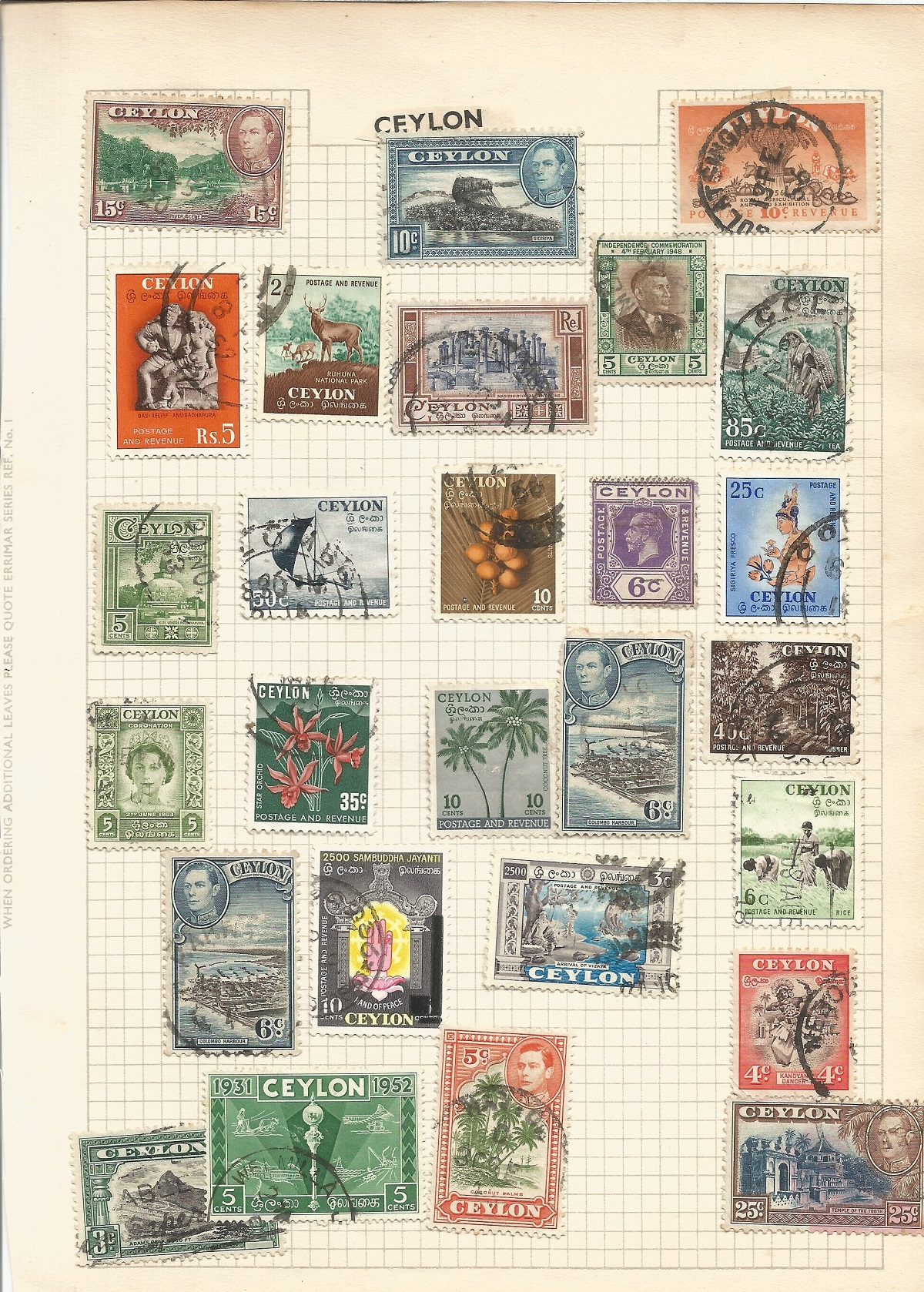 BCW stamp collection on 7 pages. Includes Burma, Ceylon, India and Pakistan. Good condition. We - Image 4 of 4