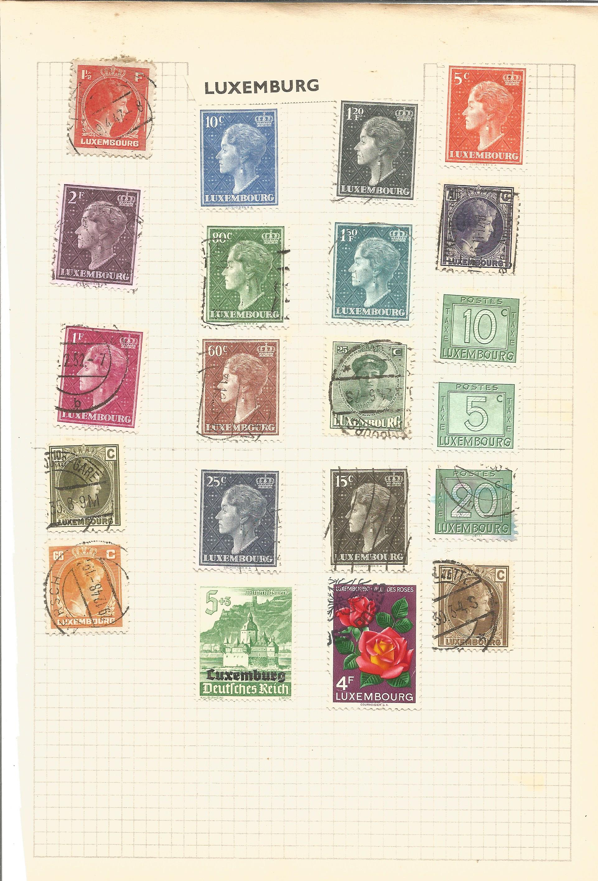 European stamp collection on 4 pages. Includes Monaco, Luxembourg and San Marino. Good condition. We - Image 3 of 4