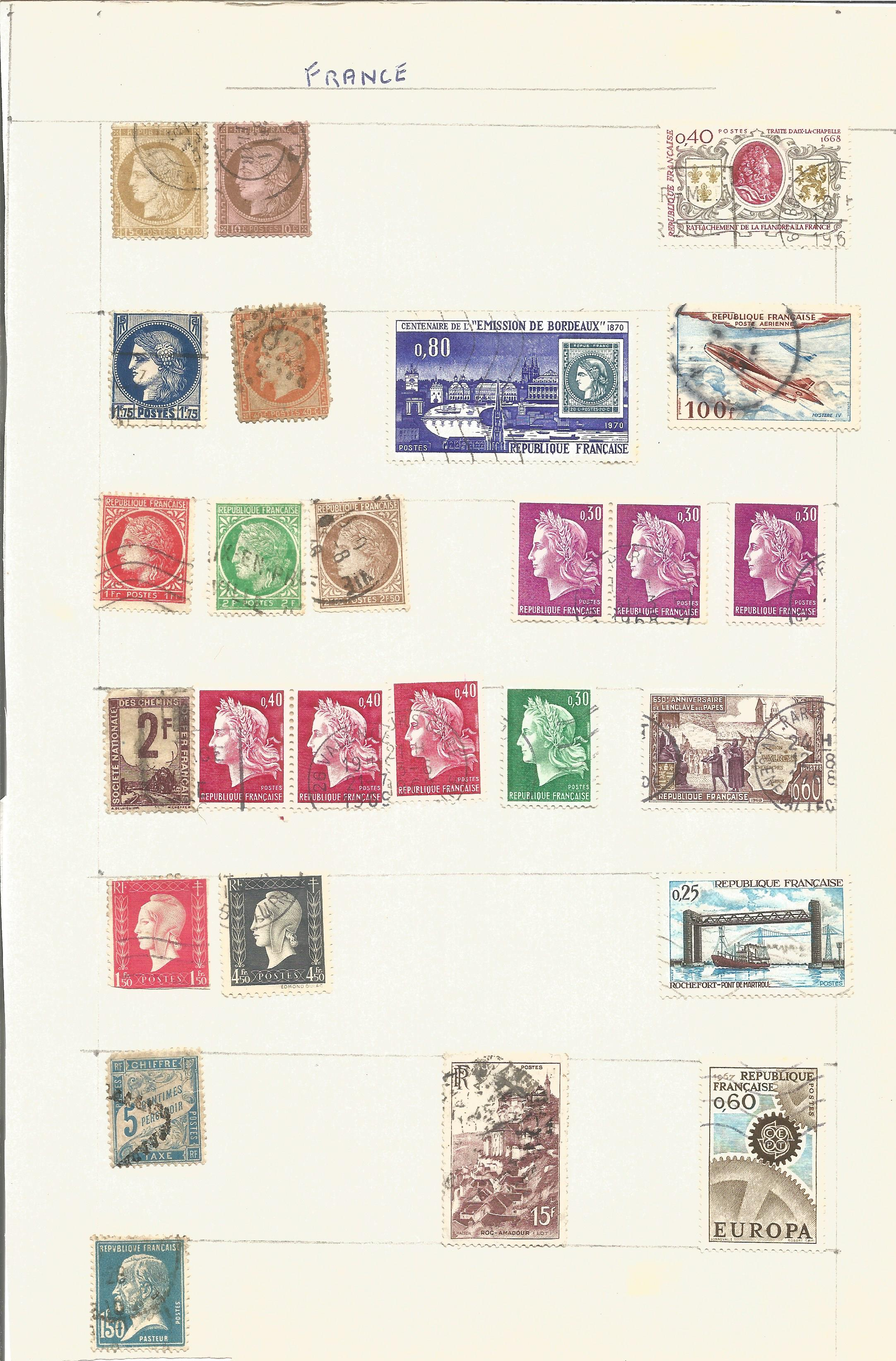 France and Colonies stamp collection on 8 loose pages. Good condition. We combine postage on - Image 3 of 4
