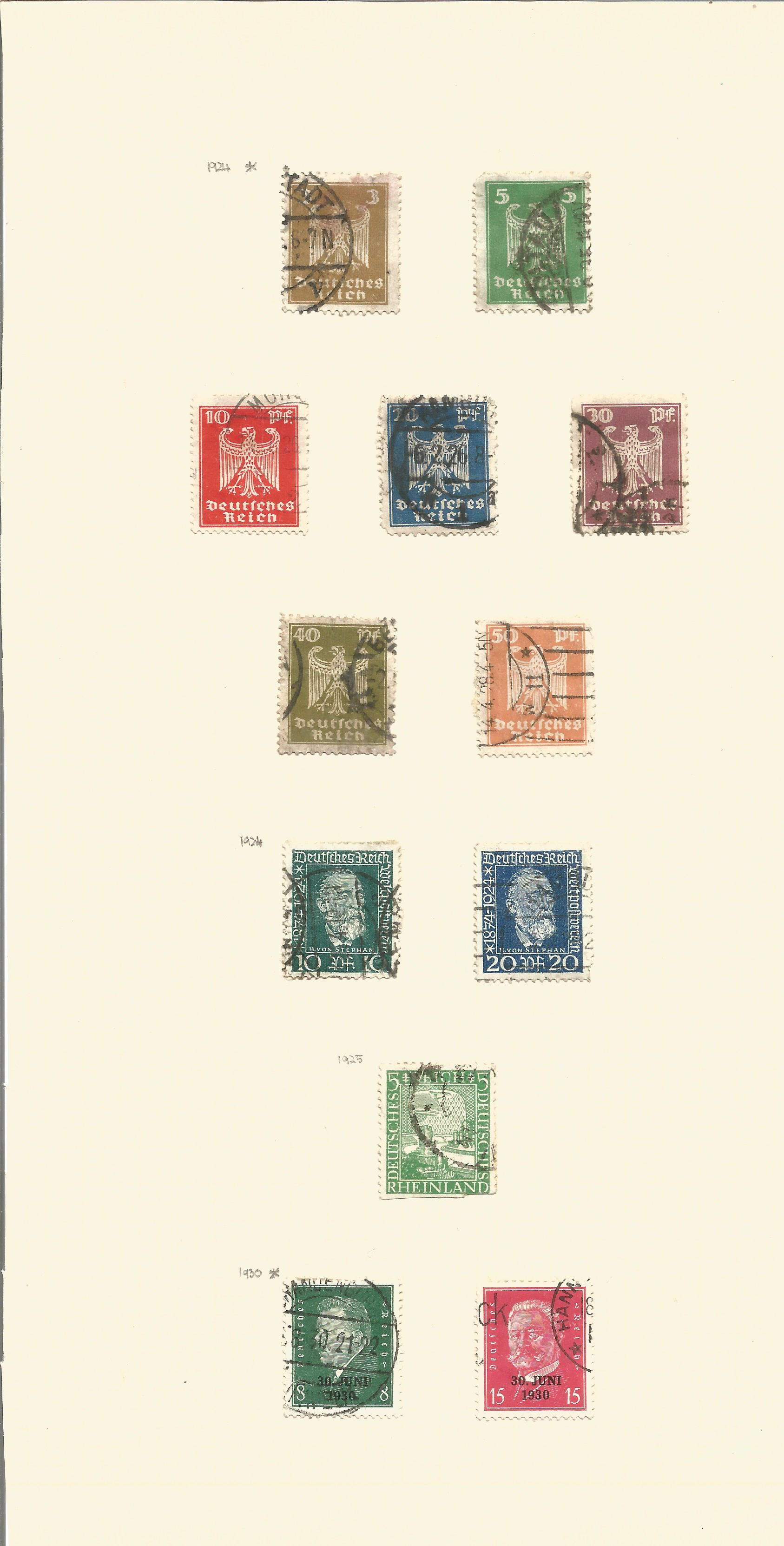 1920/1936 German stamps on 10 album pages. Good condition. We combine postage on multiple winning - Image 3 of 3