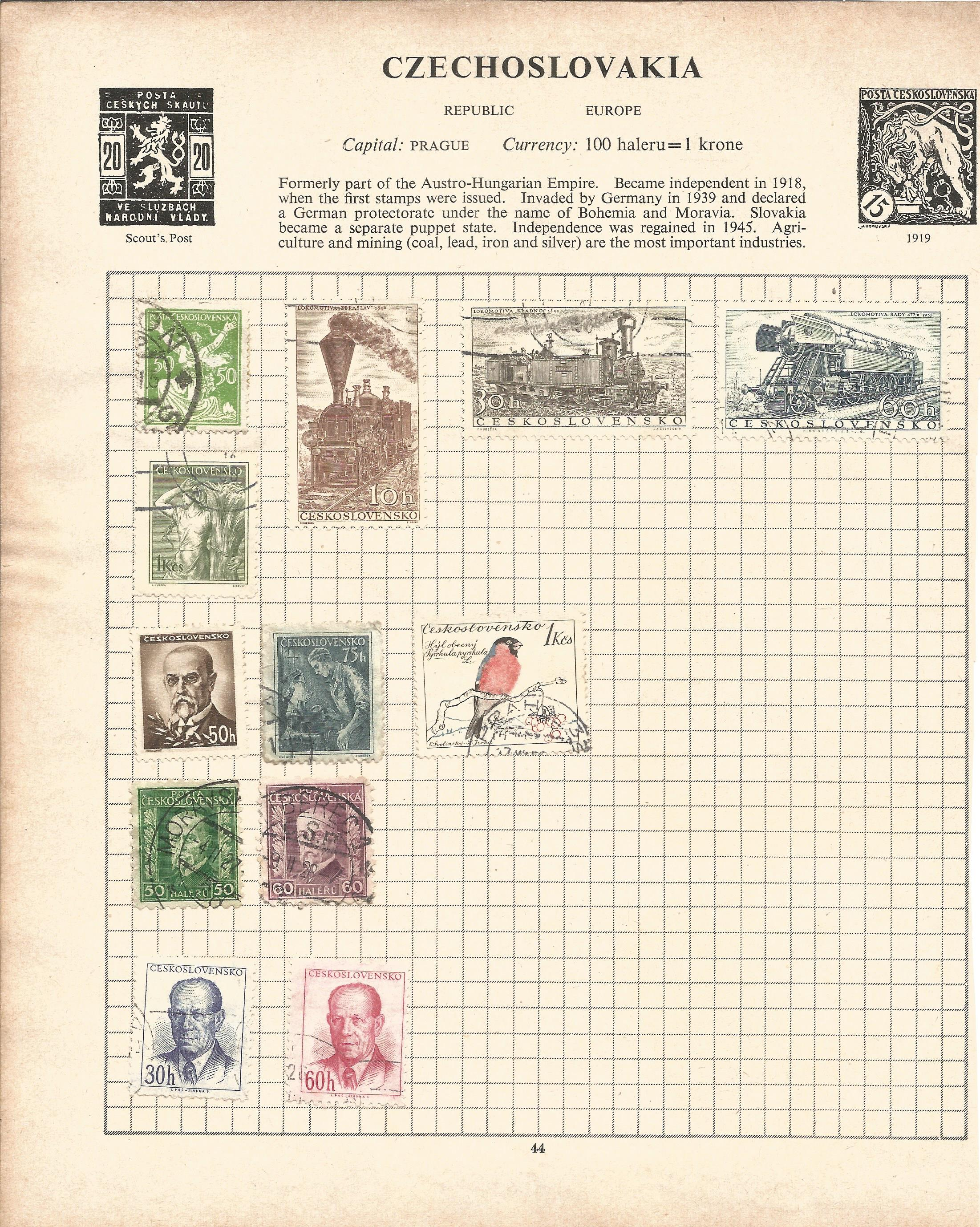 Assorted stamp collection. Includes Argentina, Chile, USA, Hungary, Poland, Romania and Russia on 20 - Image 4 of 5