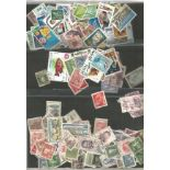 Assorted loose stamps. Includes BCW, Spain, South America, French Colonies, Czech, China,