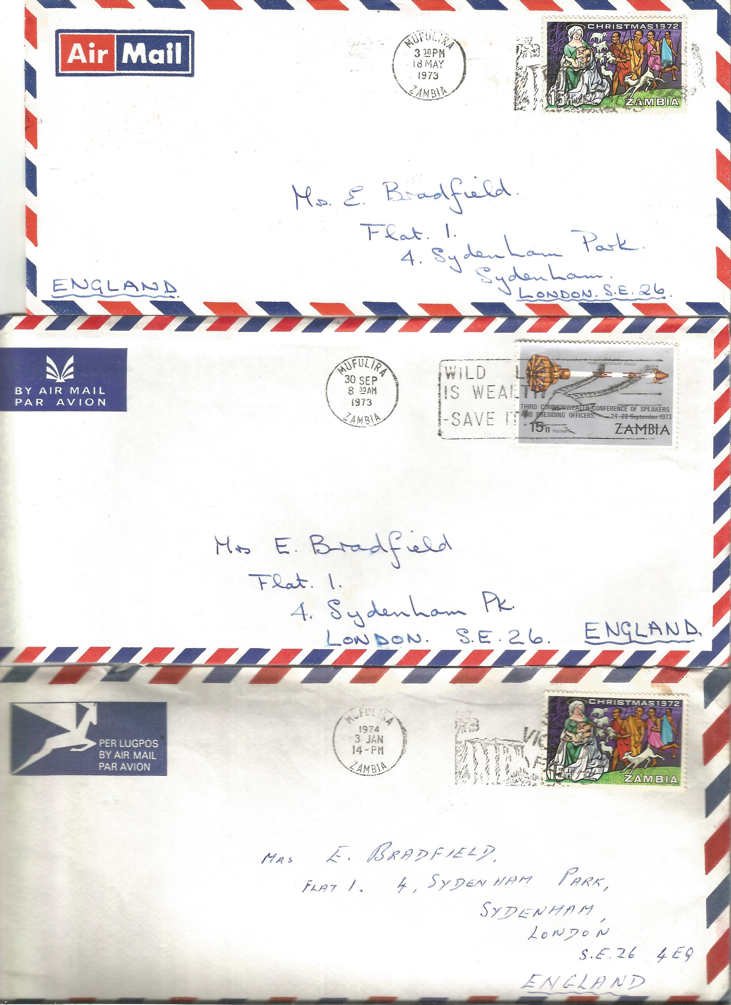 Overseas cover collection. 23 included. Australia, RSA, Canada and Zambia. Good condition. We - Image 3 of 5