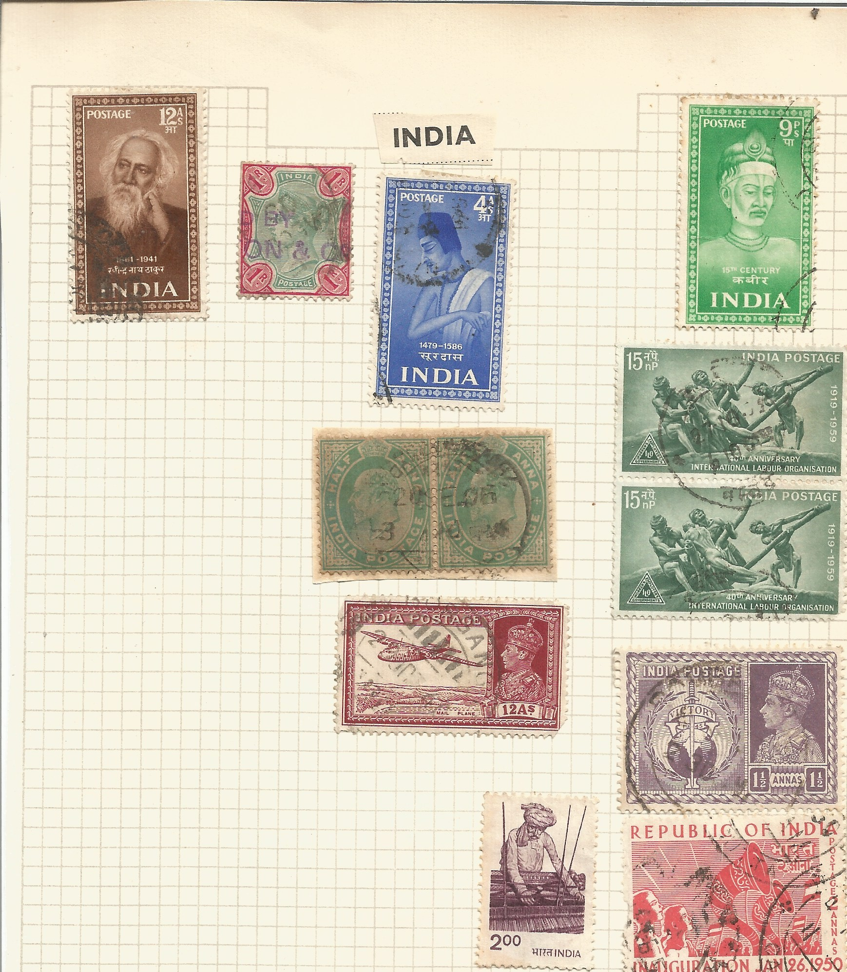 BCW stamp collection on 7 pages. Includes Burma, Ceylon, India and Pakistan. Good condition. We - Image 2 of 4