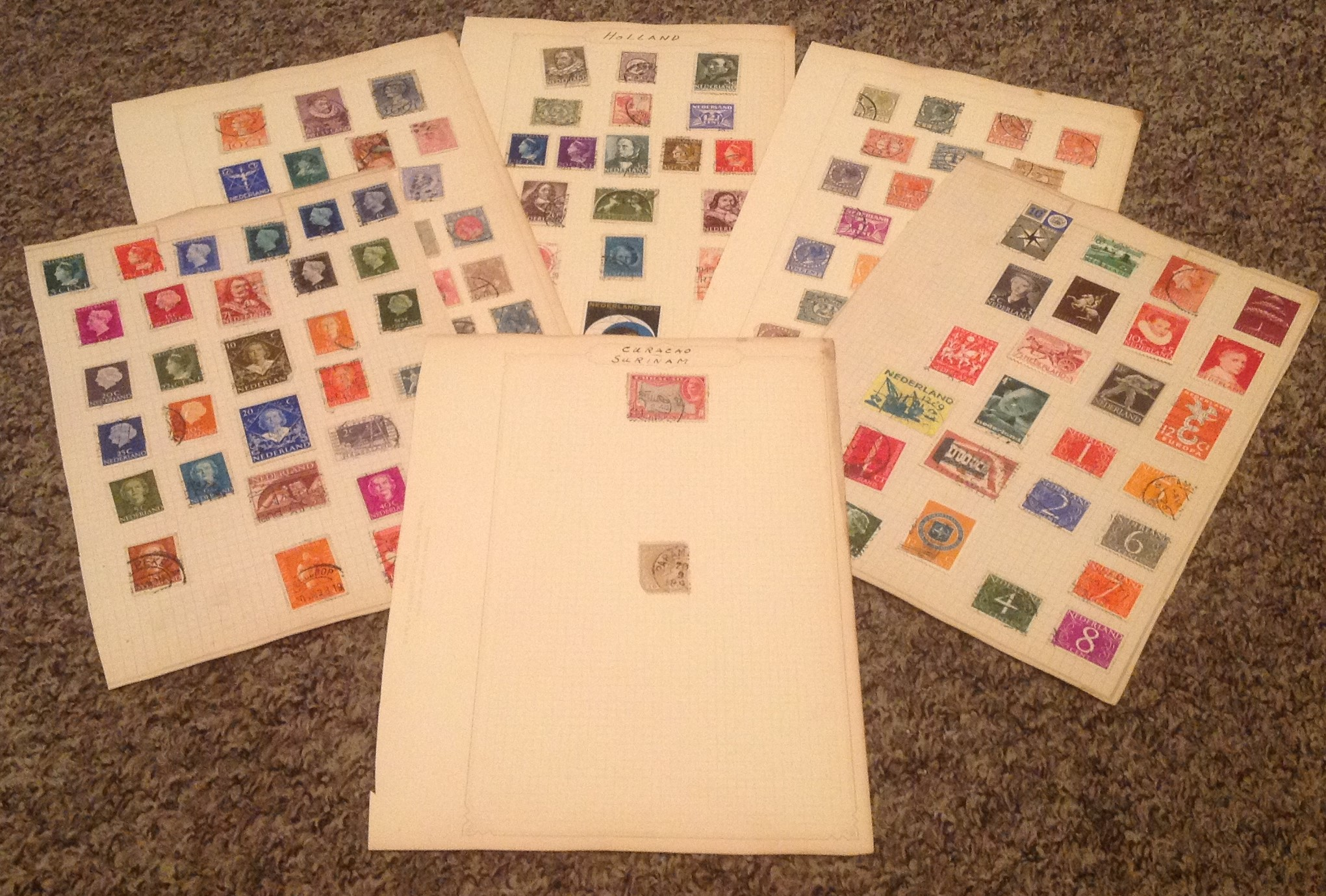 Holland Stamp collection 6 loose album pages. Good condition. We combine postage on multiple winning
