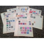 USA and South America stamp collection 10 loose album pages countries include Argentina, Brazil,