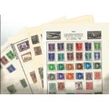 Indian stamp collection on 14 loose pages. Good condition. We combine postage on multiple winning