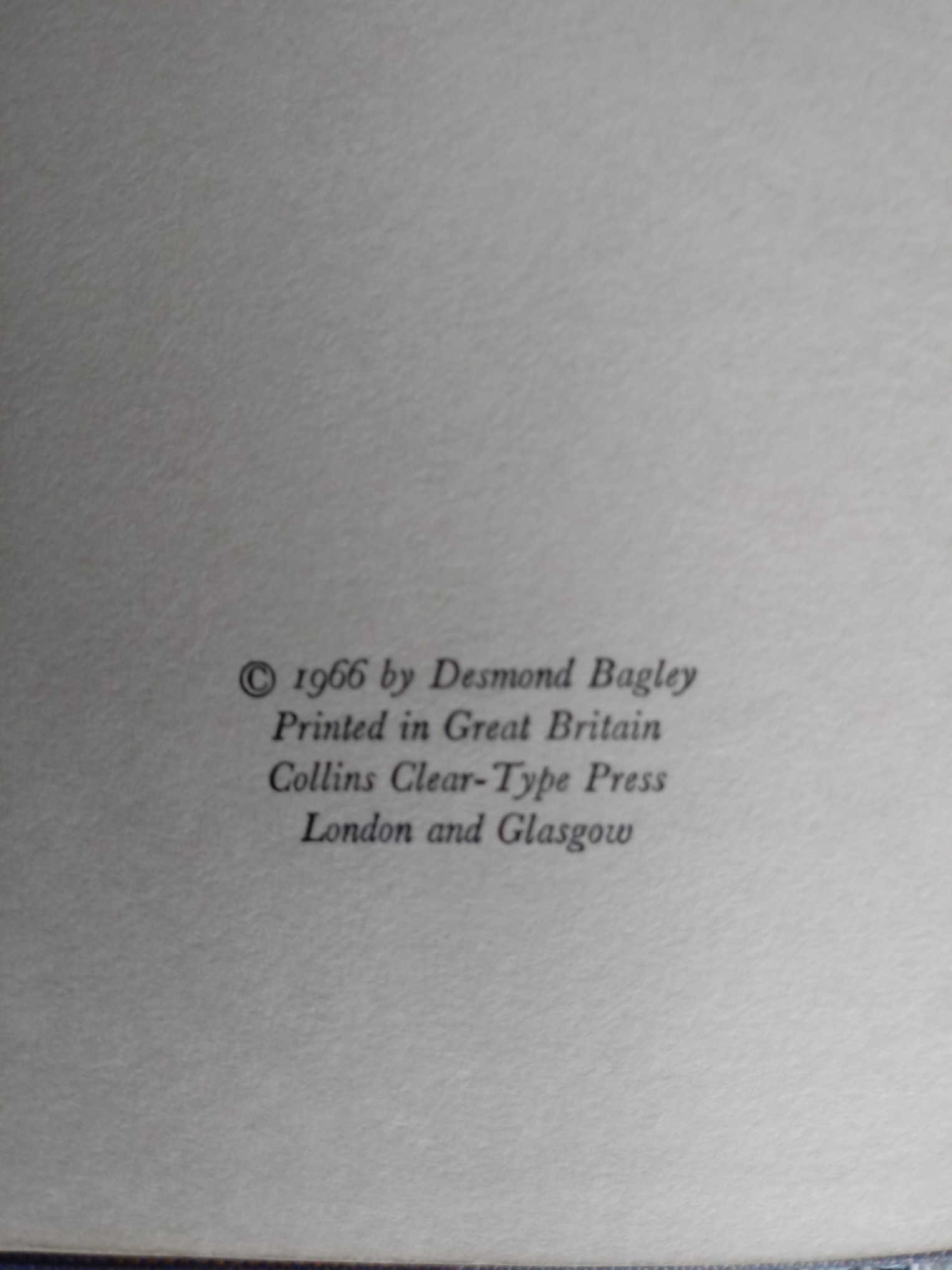 3 x Desmond Bagley hardback books published by Collins 1- Wyatt's Hurricane 287 pages 1966. In - Image 4 of 10