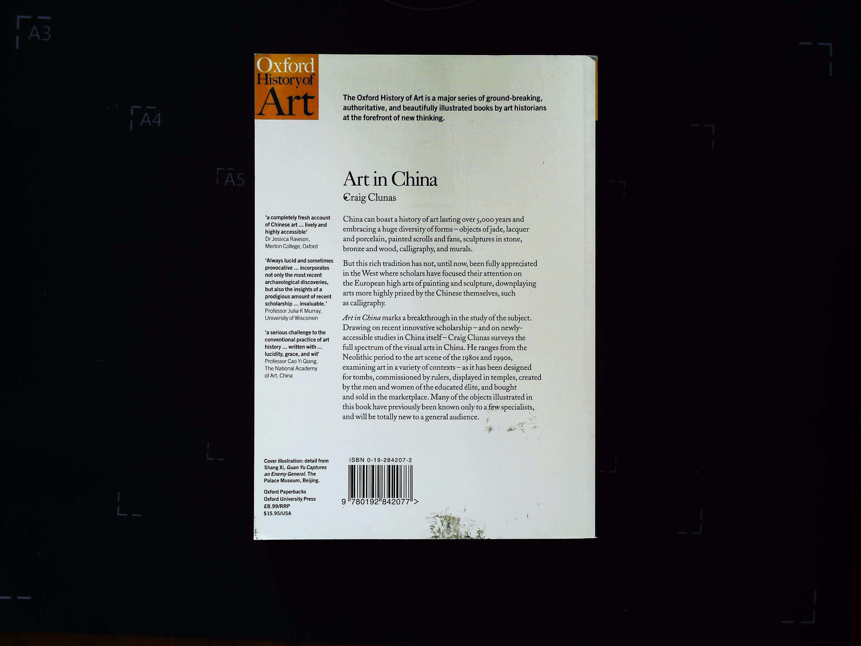 Art In China by Craig Clunas softback book 255 pages Published 1997 Oxford University Press. In good - Image 2 of 3
