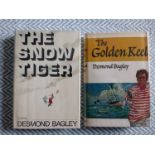 2 x Desmond Bagley hardback books 1-The Snow Tiger signed dedication by author 302 pages published