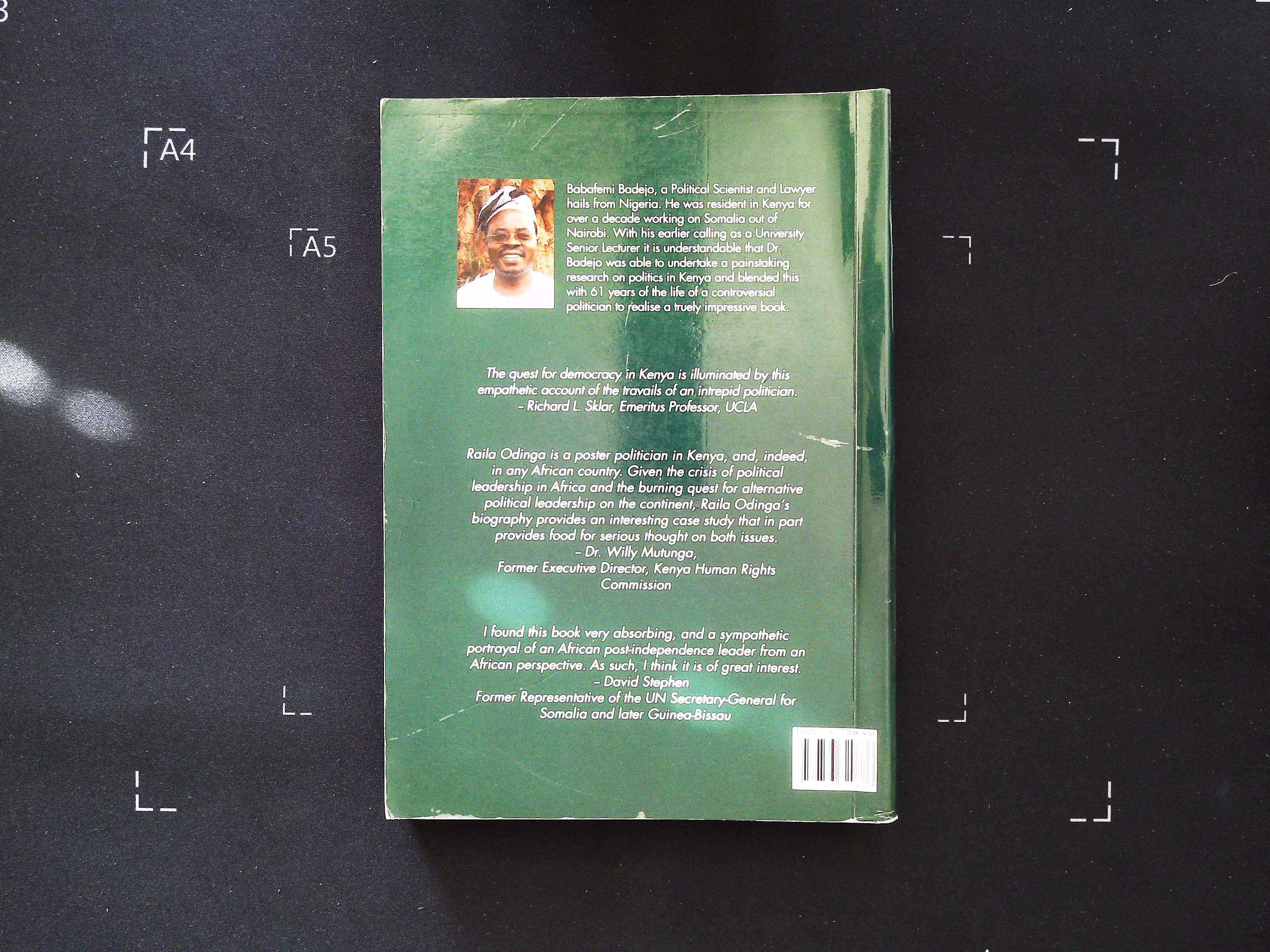 Raila Odinga An Enigma in Kenyan Politics by Babafemi A. Badejo softback book 367 pages signed and - Image 2 of 4