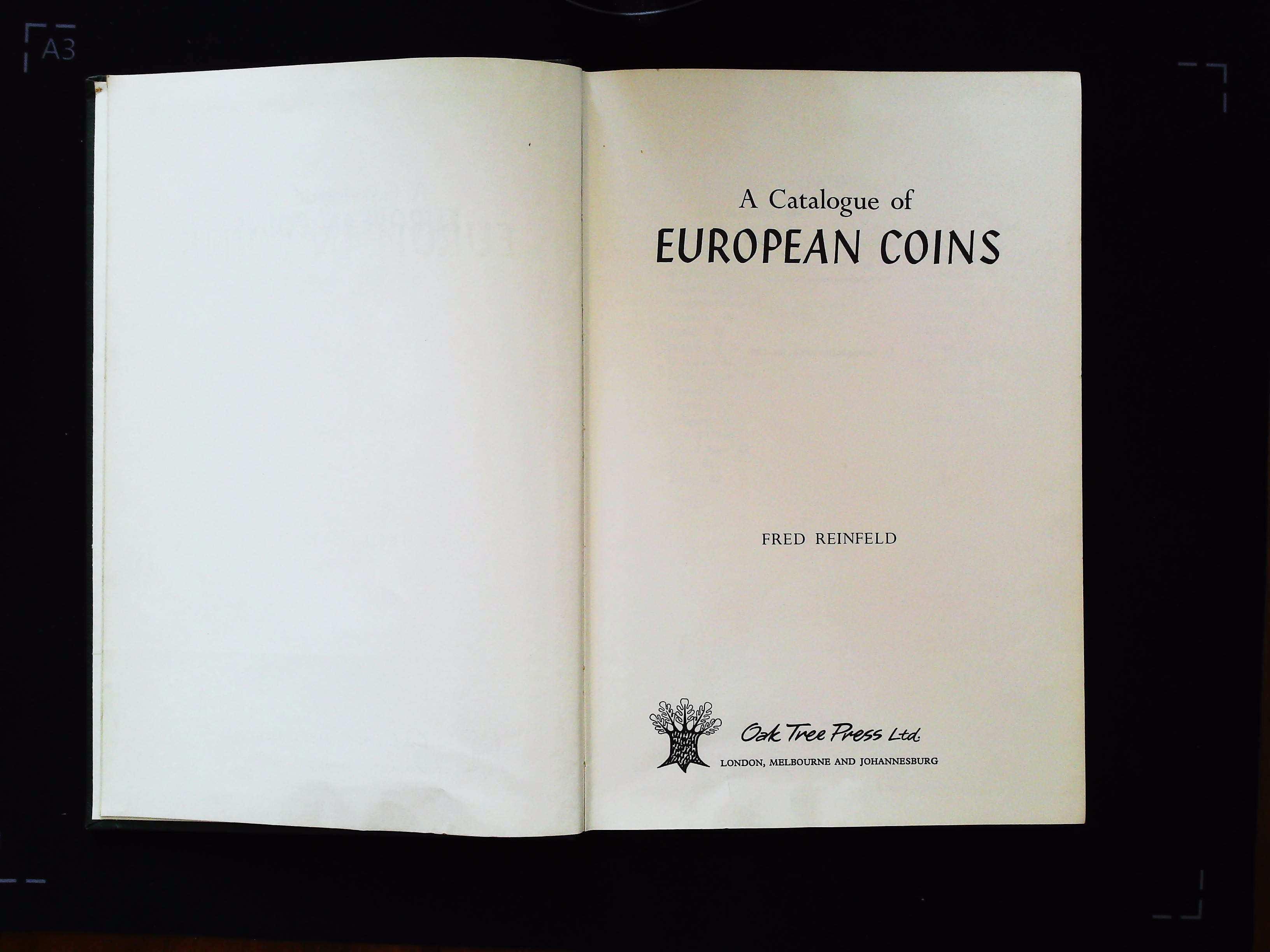 A Catalogue of European Coins by Fred Reinfeld hardback book 124 pages Published 1961 Oak Tree Press - Image 3 of 4