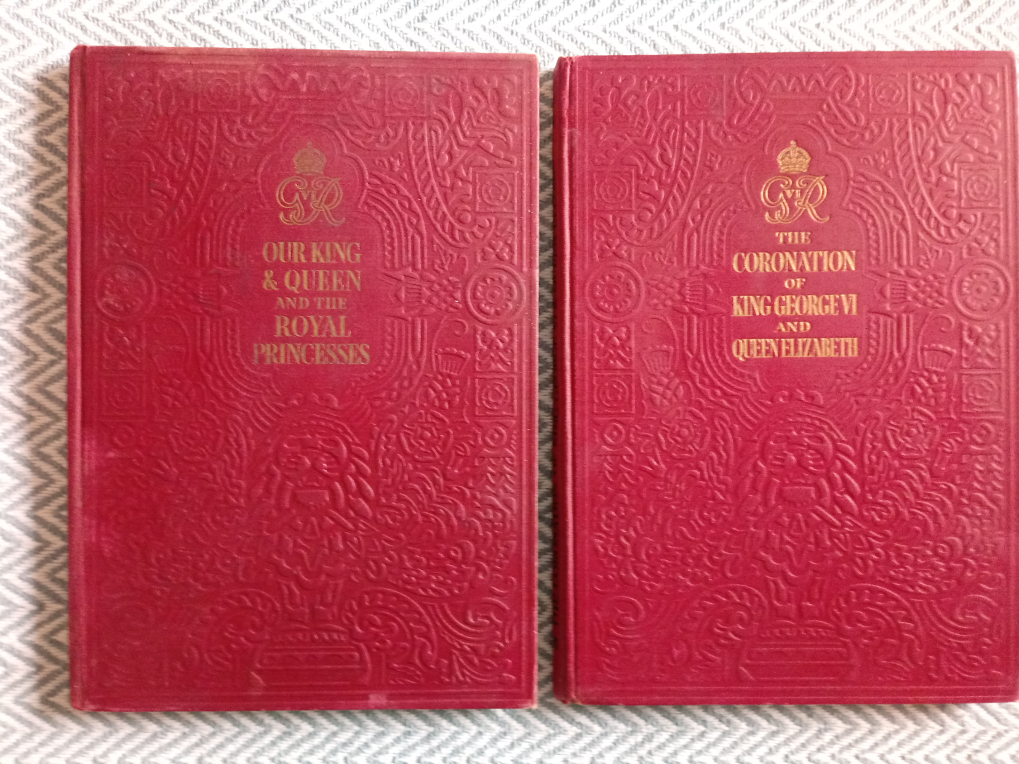 2 x hardback books published Odhams Press 1- The Coronation Of King George VI And Queen Elizabeth