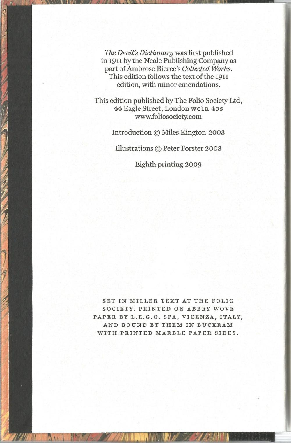 The Devil's Dictionary by Ambrose Bierce. Unsigned hardback book in cover sleeve published in 2009 - Image 2 of 2